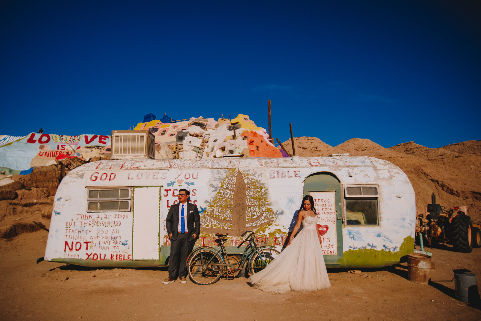 san diego wedding   photographer | couple in front of recreational vehicle