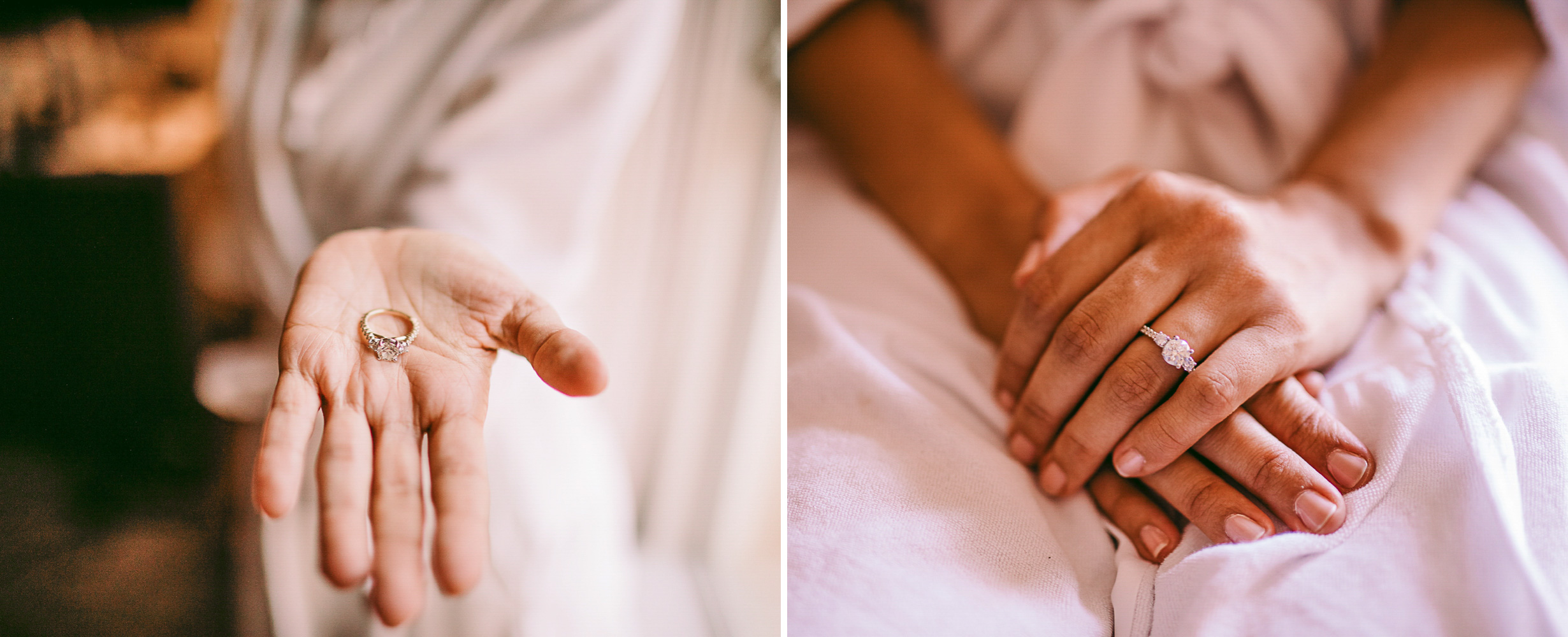 san diego wedding   photographer | collage of woman's hand holding her wedding ring