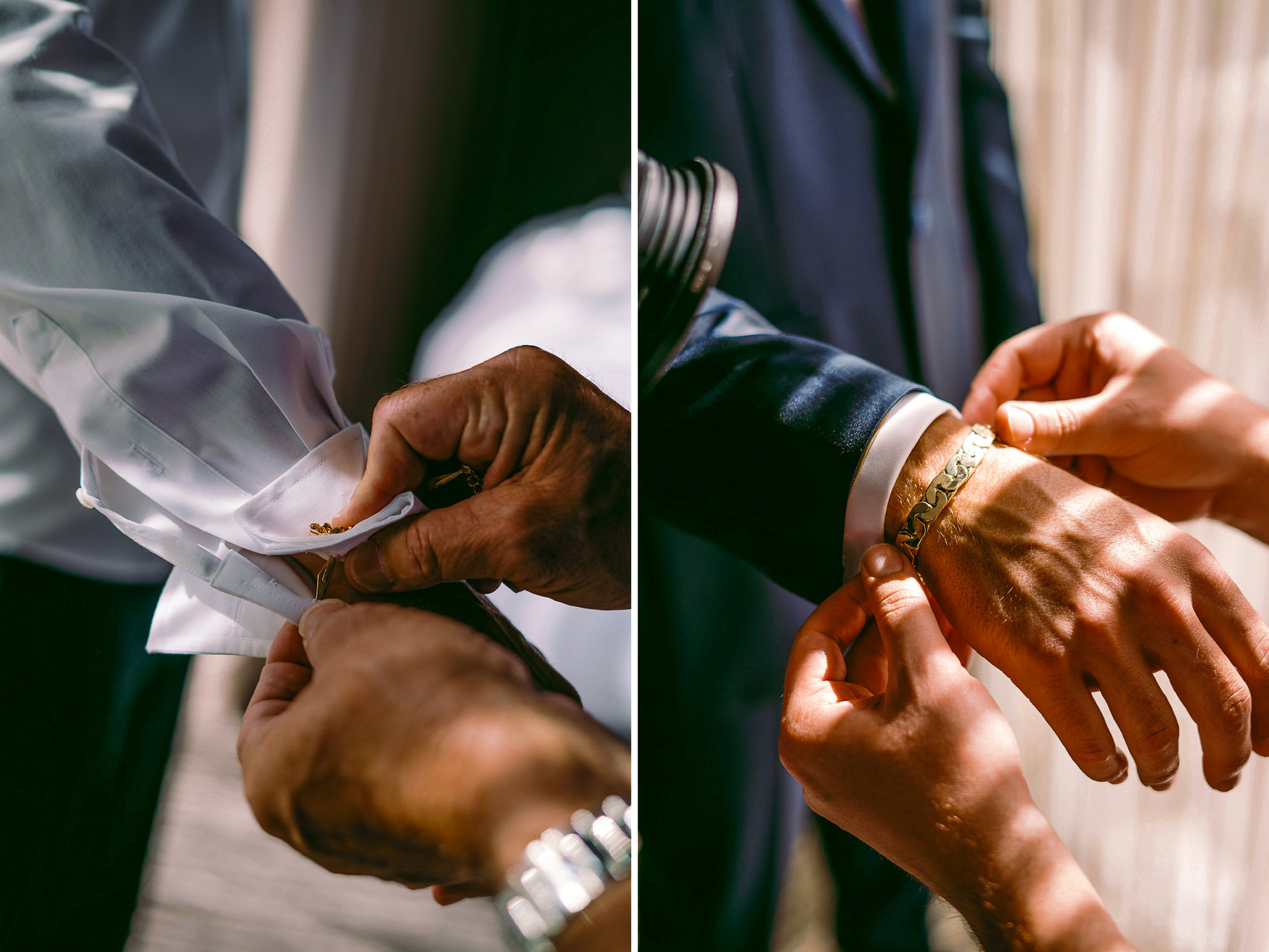 san diego wedding   photographer | man's hand being prepared by other hands