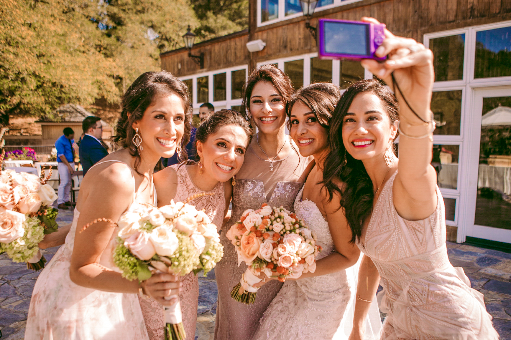 san diego wedding   photographer | group of women in dresses posing for a picure
