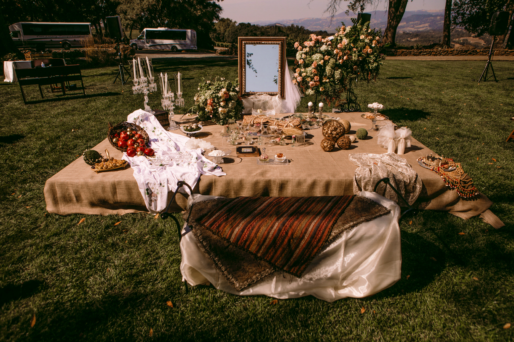 san diego wedding   photographer | set-up of table filled with various items