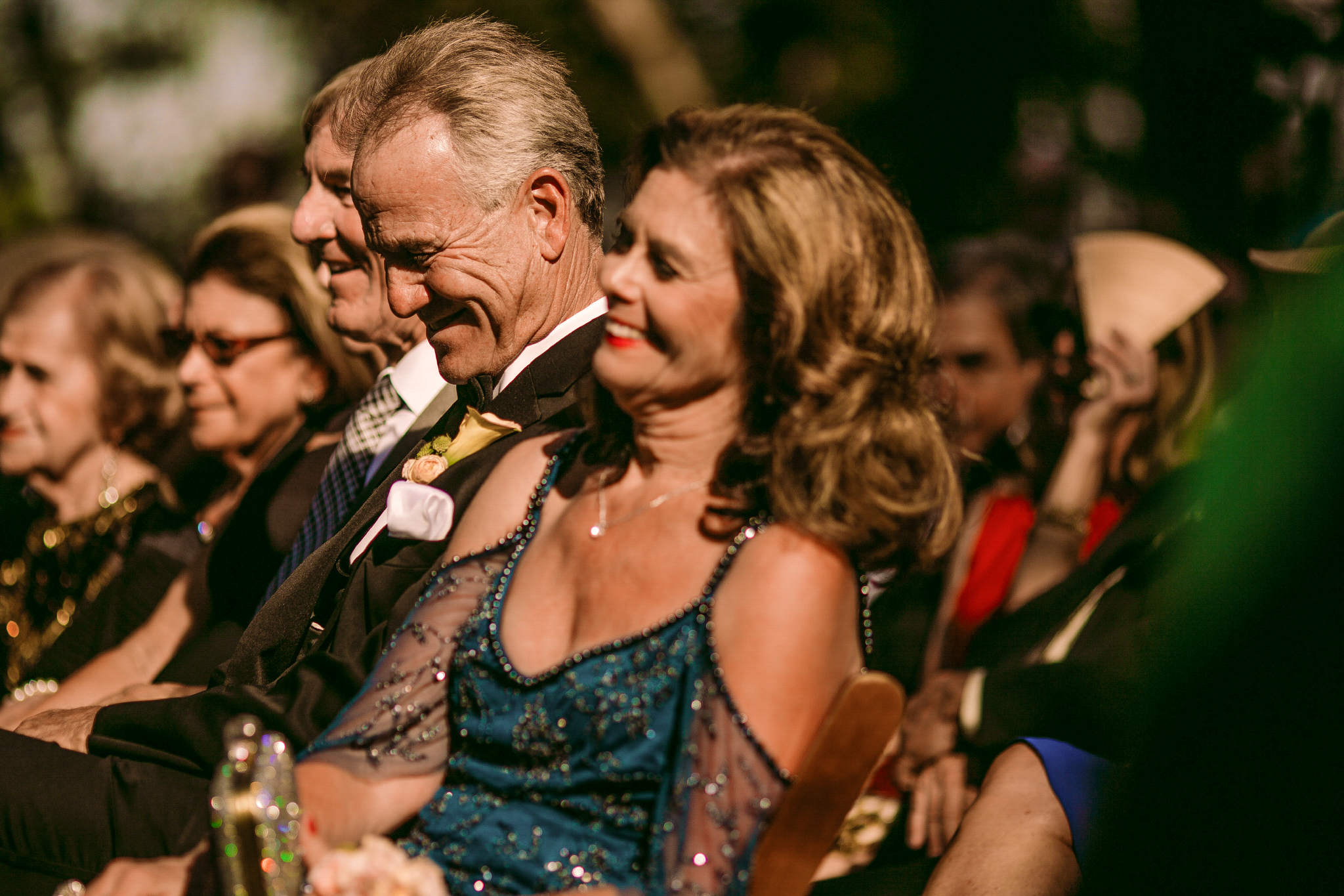 san diego wedding   photographer | old people in crowd laughing while sitting down