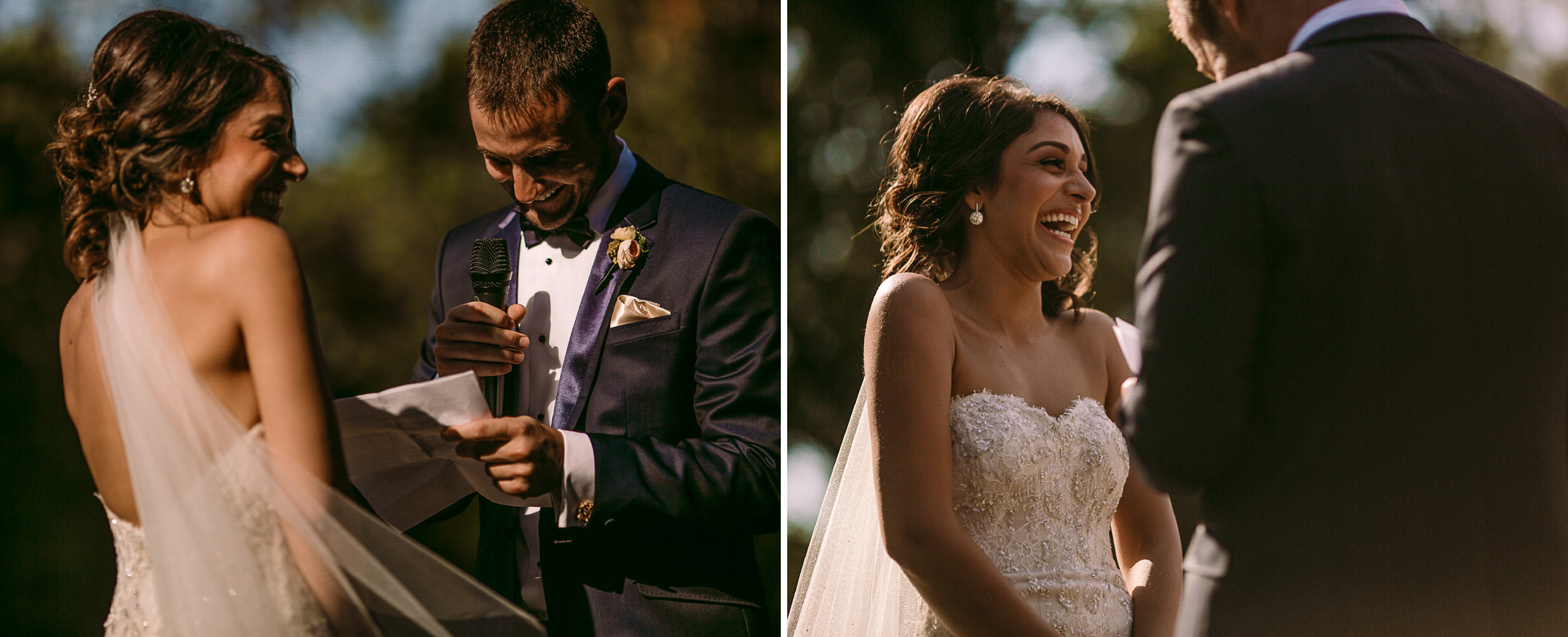 san diego wedding   photographer | collage of married couple laughing while standing