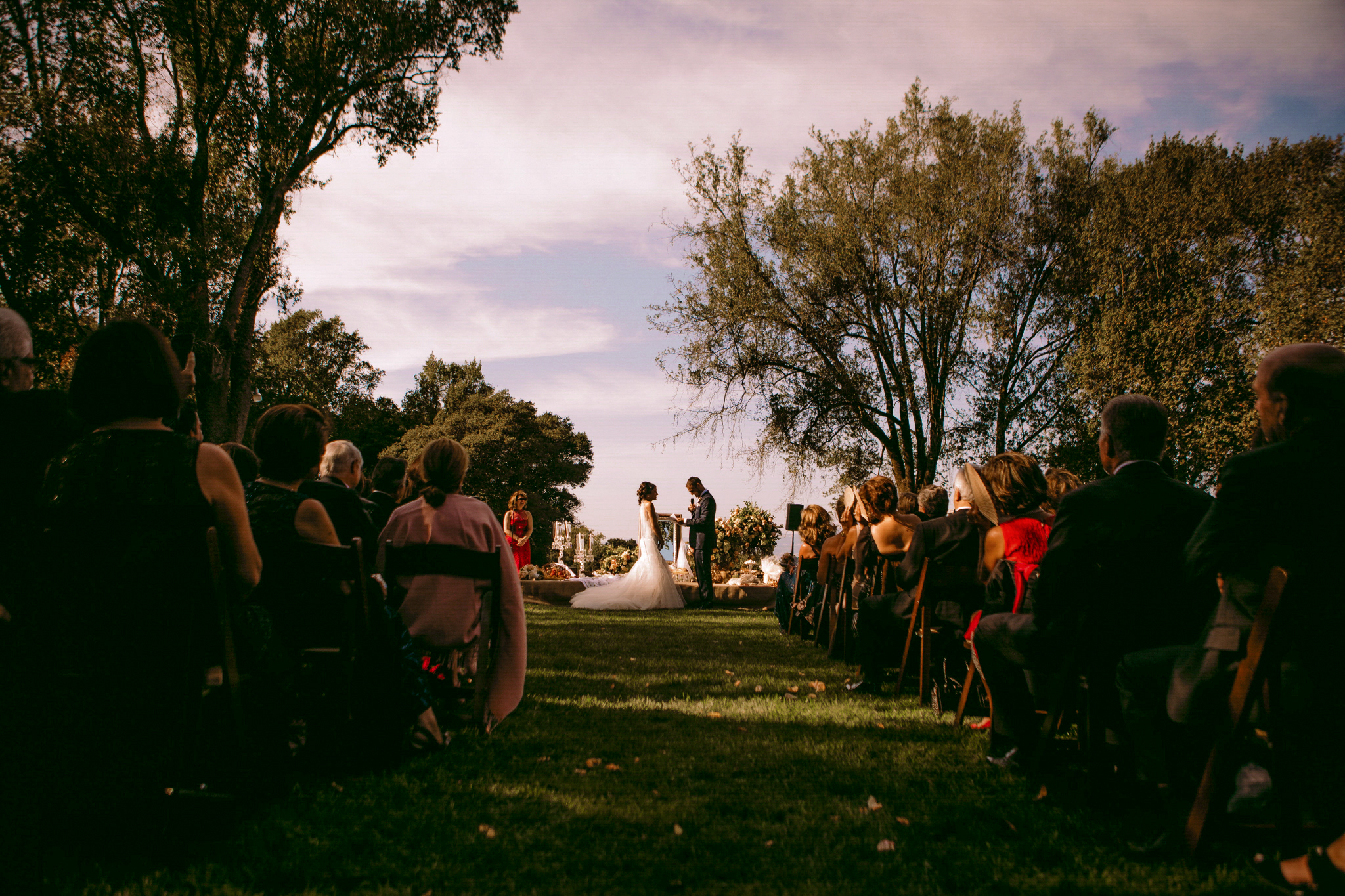 san diego wedding   photographer | view of couple getting married down the aisle