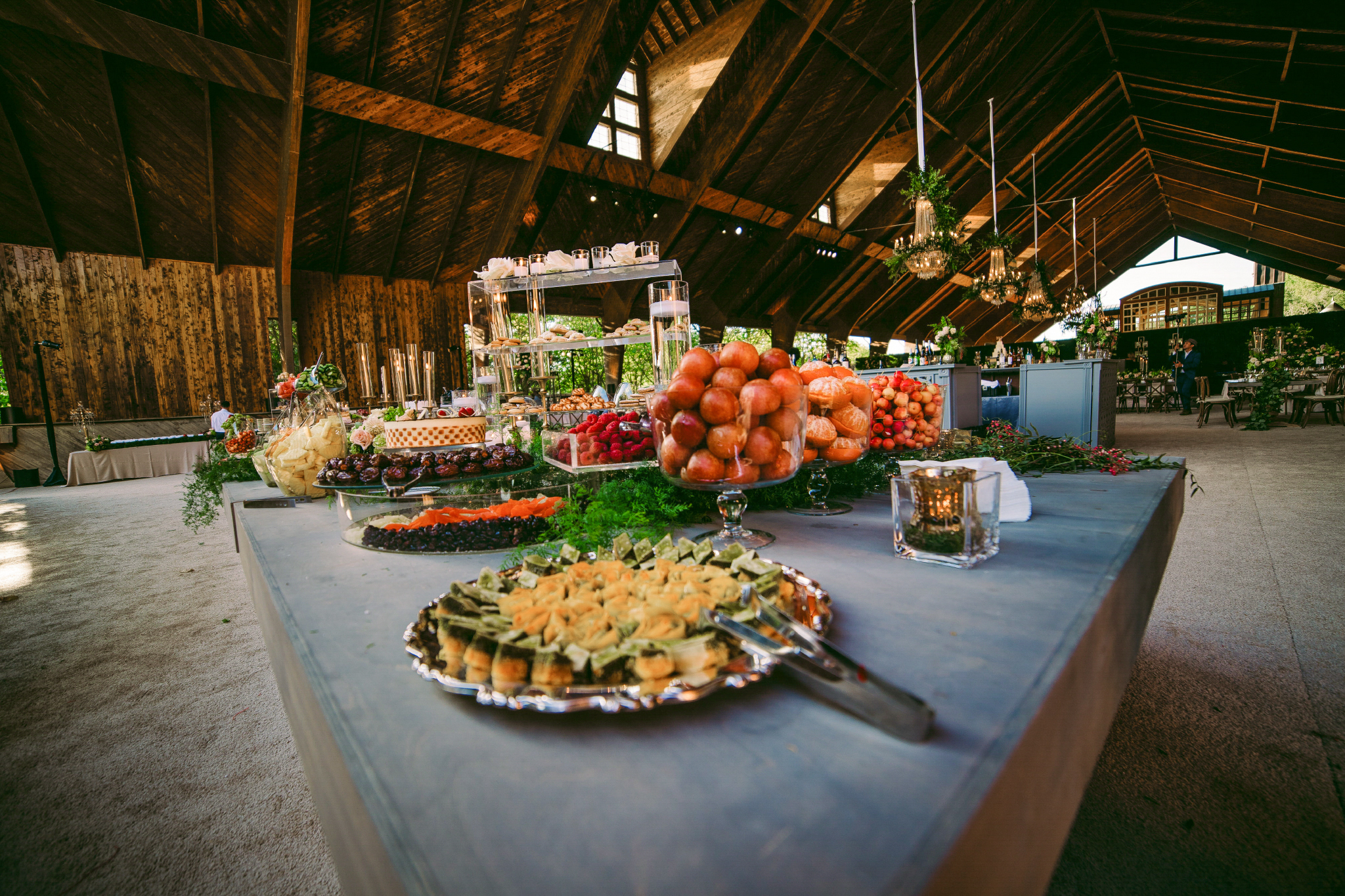 san diego wedding   photographer | table with assortments of fruits and pastries