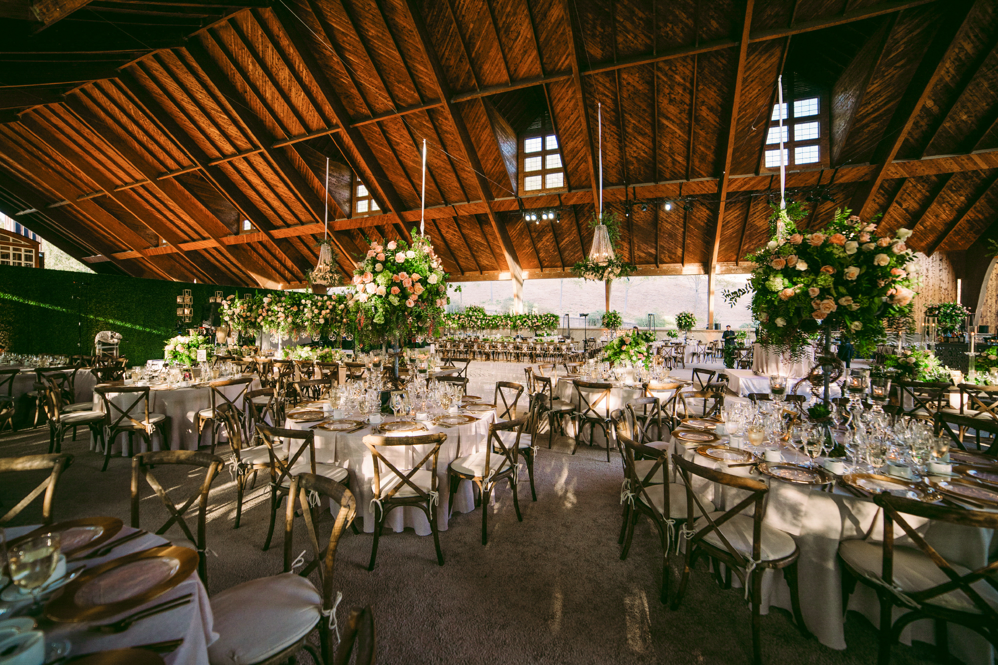 san diego wedding   photographer | view of dining area with flower arrangements and roundtables