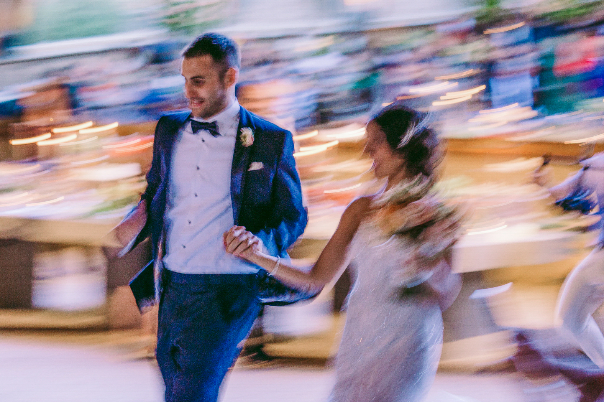 san diego wedding   photographer | blurred picture of married couple holding hands