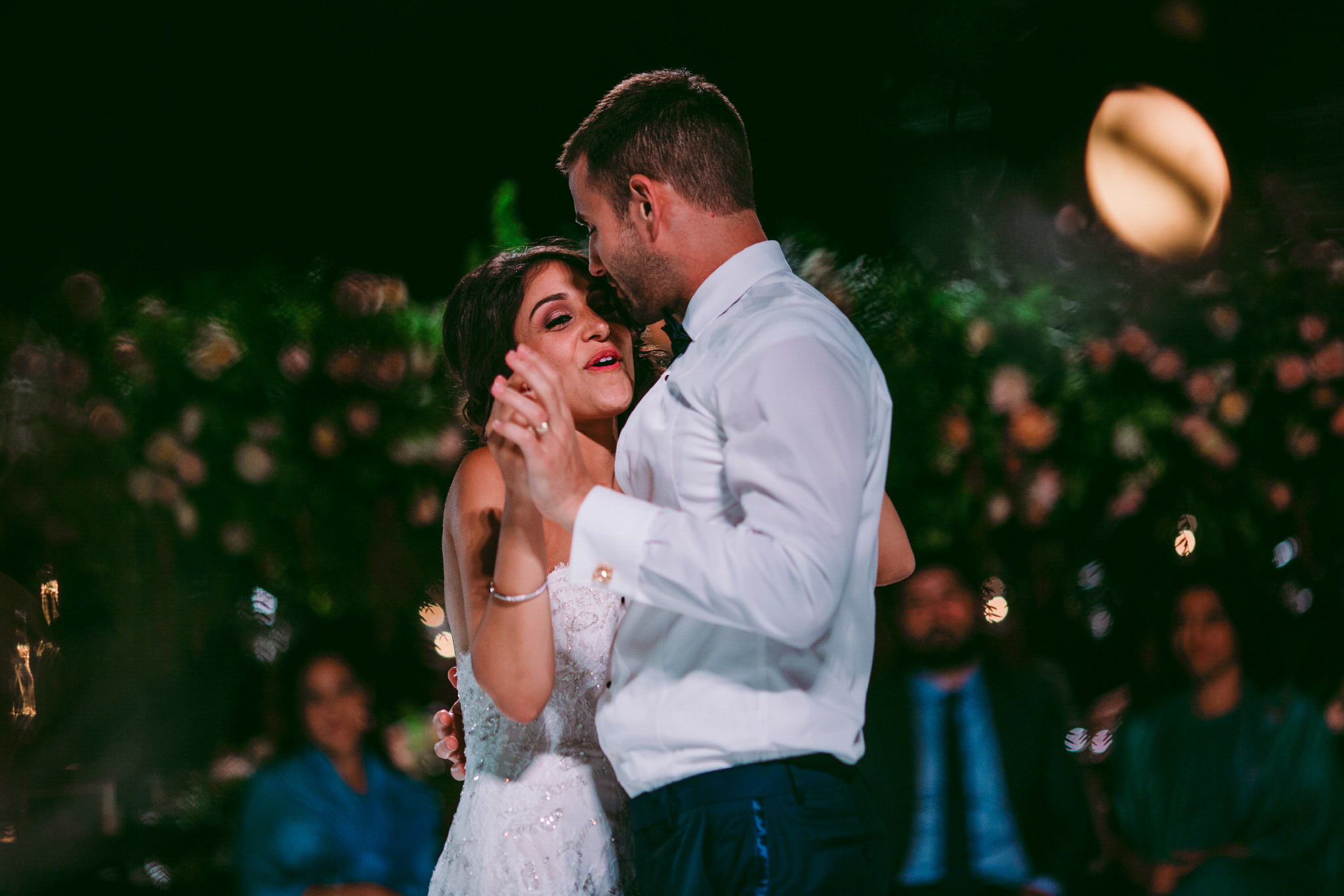 san diego wedding   photographer | married couple dancing with bride laughing while holding man's   hand