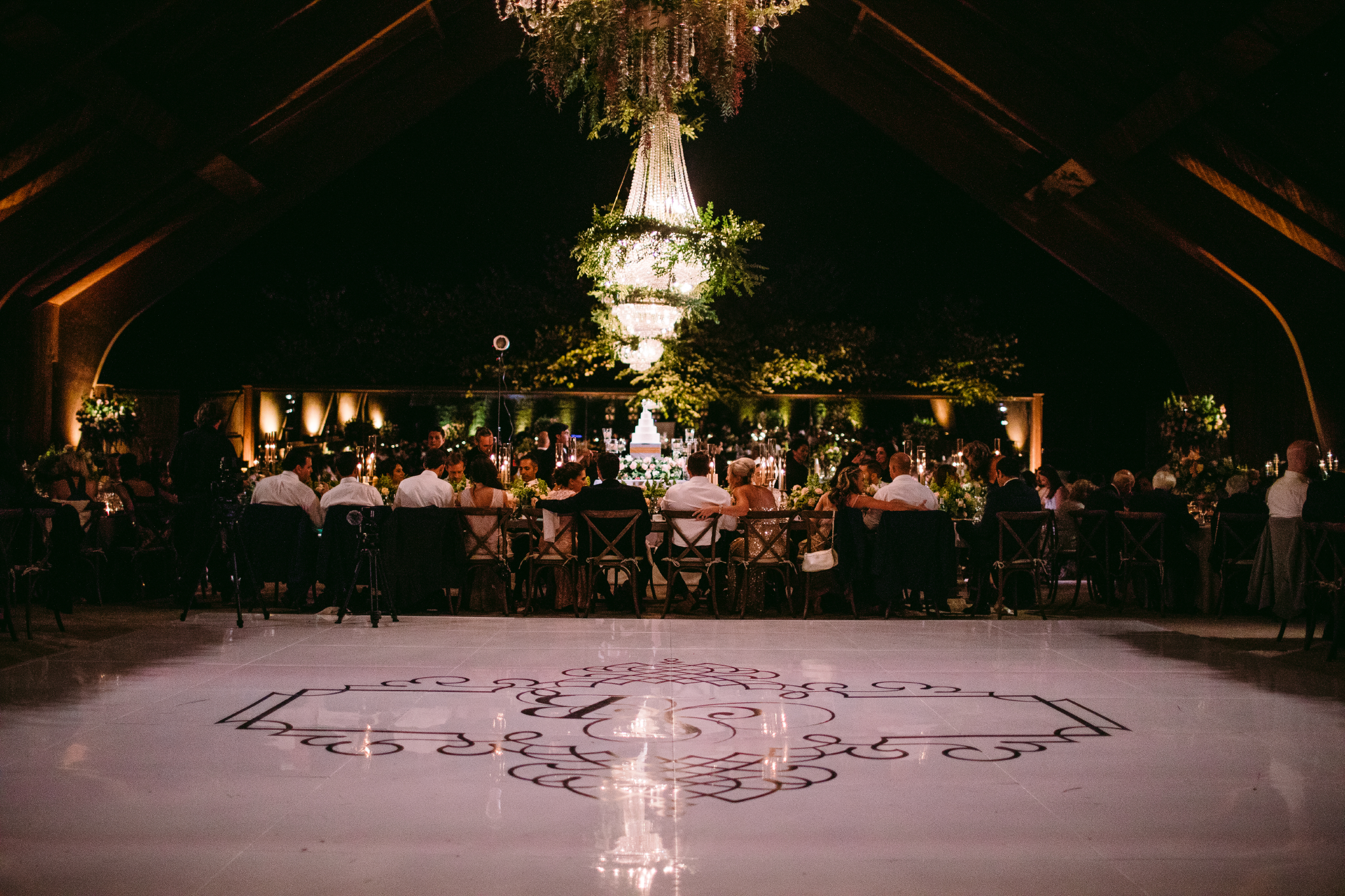 san diego wedding   photographer | view of dance floor with dining area behind it