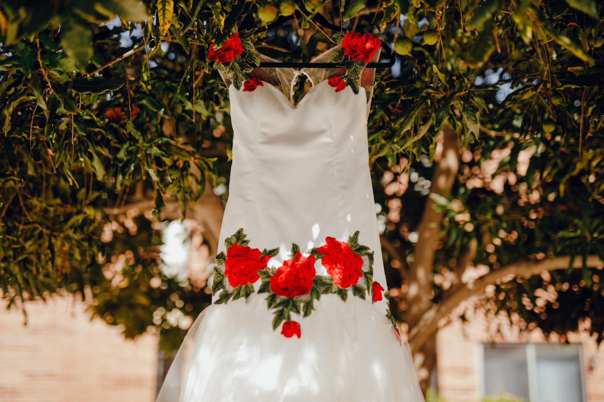 San Diego Wedding Photographer | Mexican inspired wedding dress