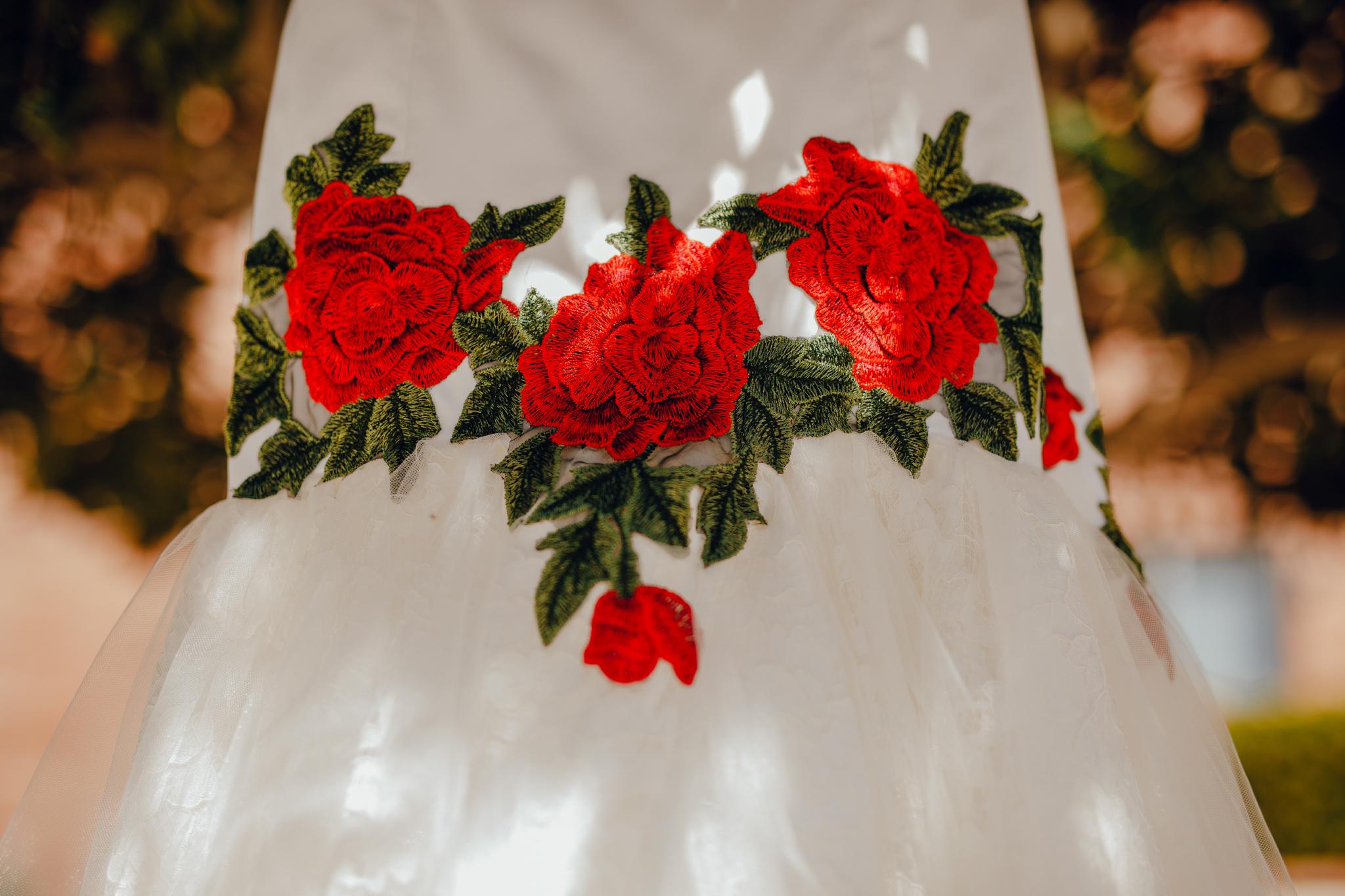 San Diego Wedding Photographer | mexican inspired wedding dress detail