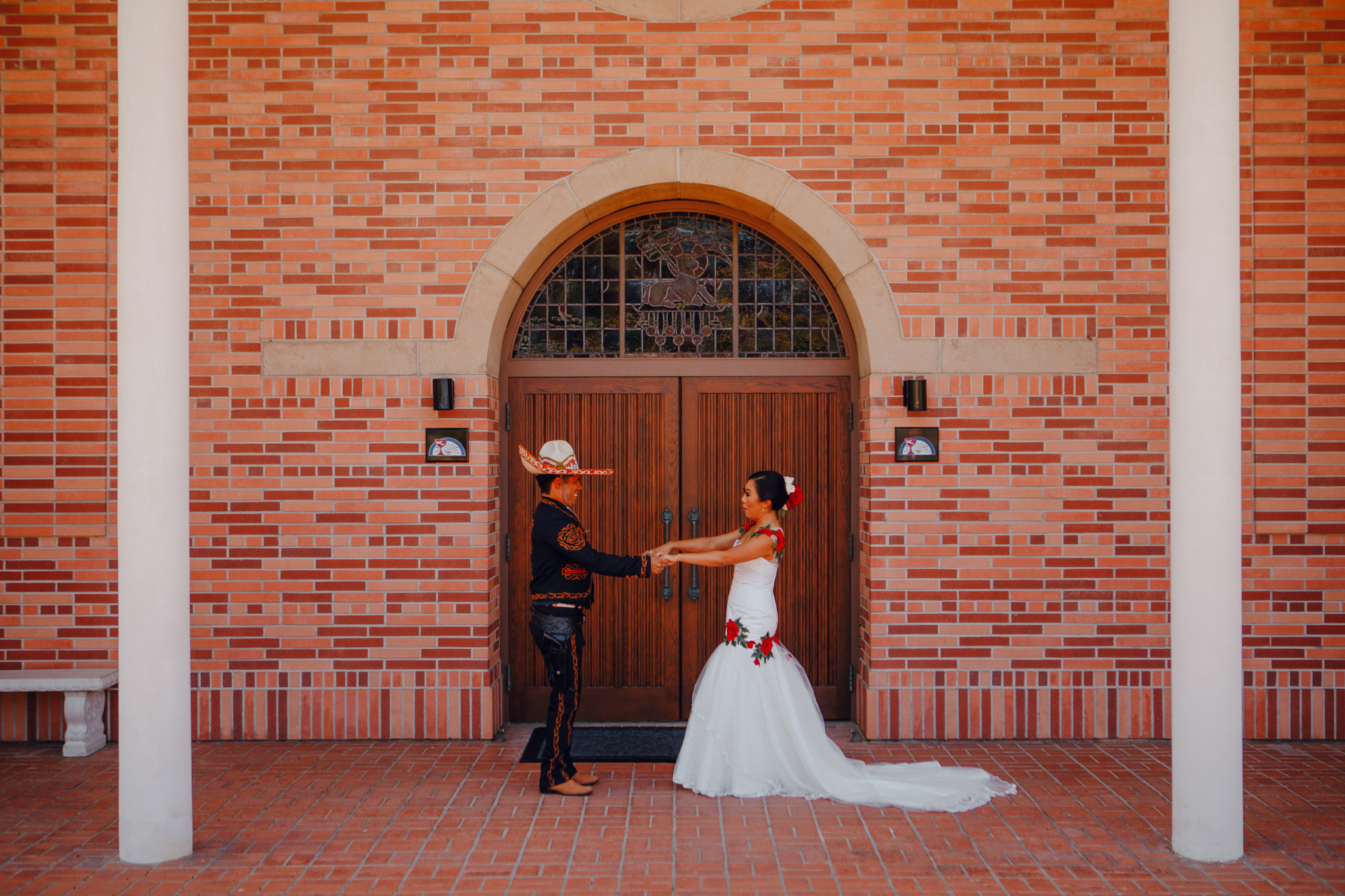 San Diego Wedding Photographer | Groom's reaction during first look at Torrey pines church