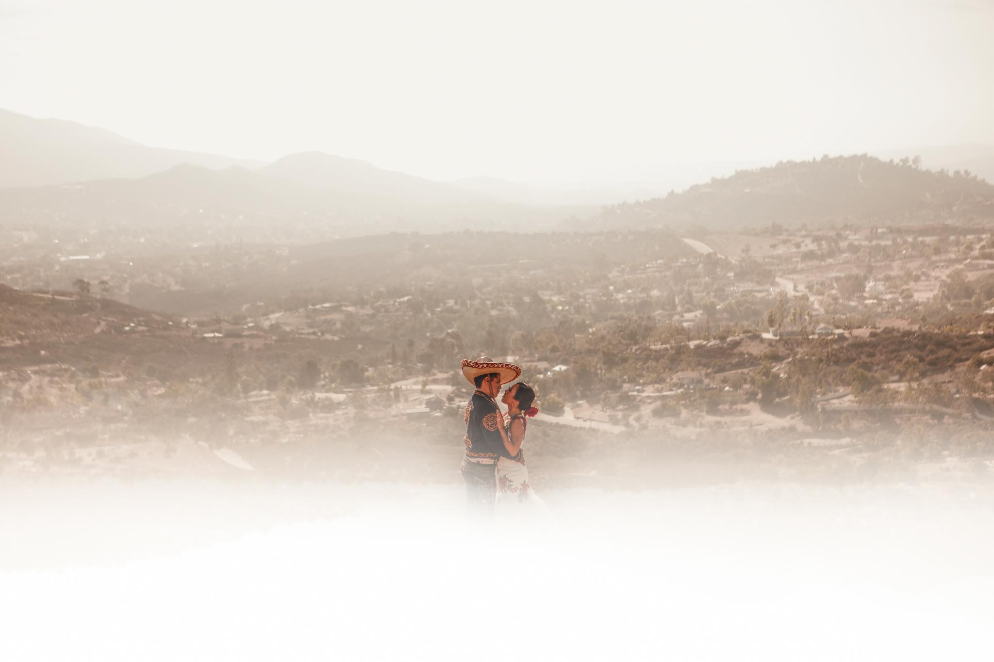 San Diego Wedding Photographer | wedding couple creative portrait shot