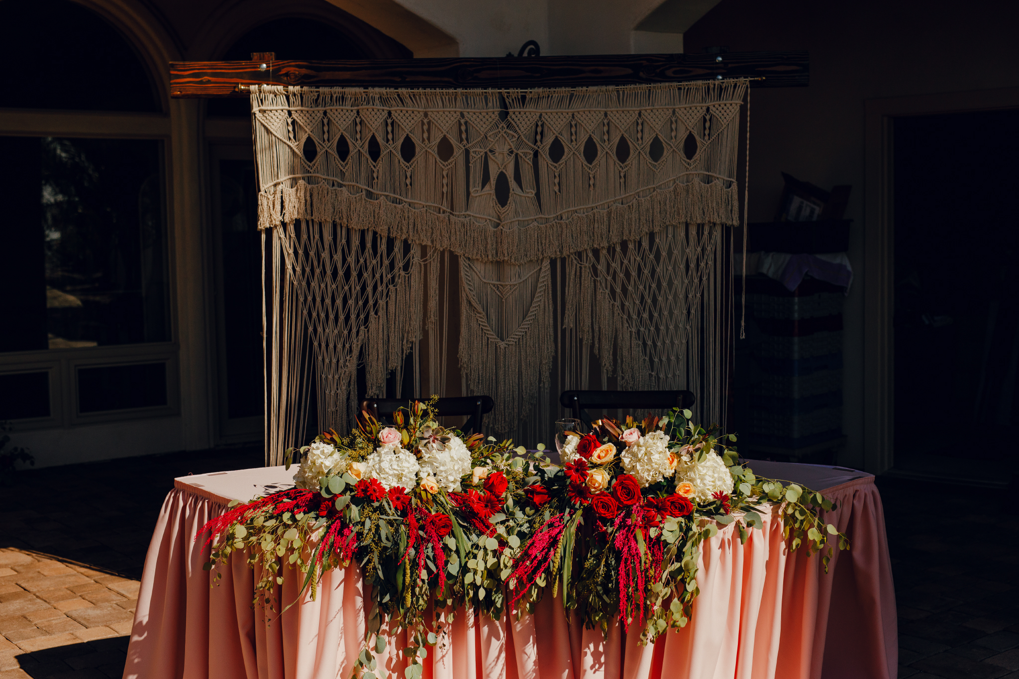 San Diego Wedding Photographer | sweethearts table at a Montana Cielo wedding