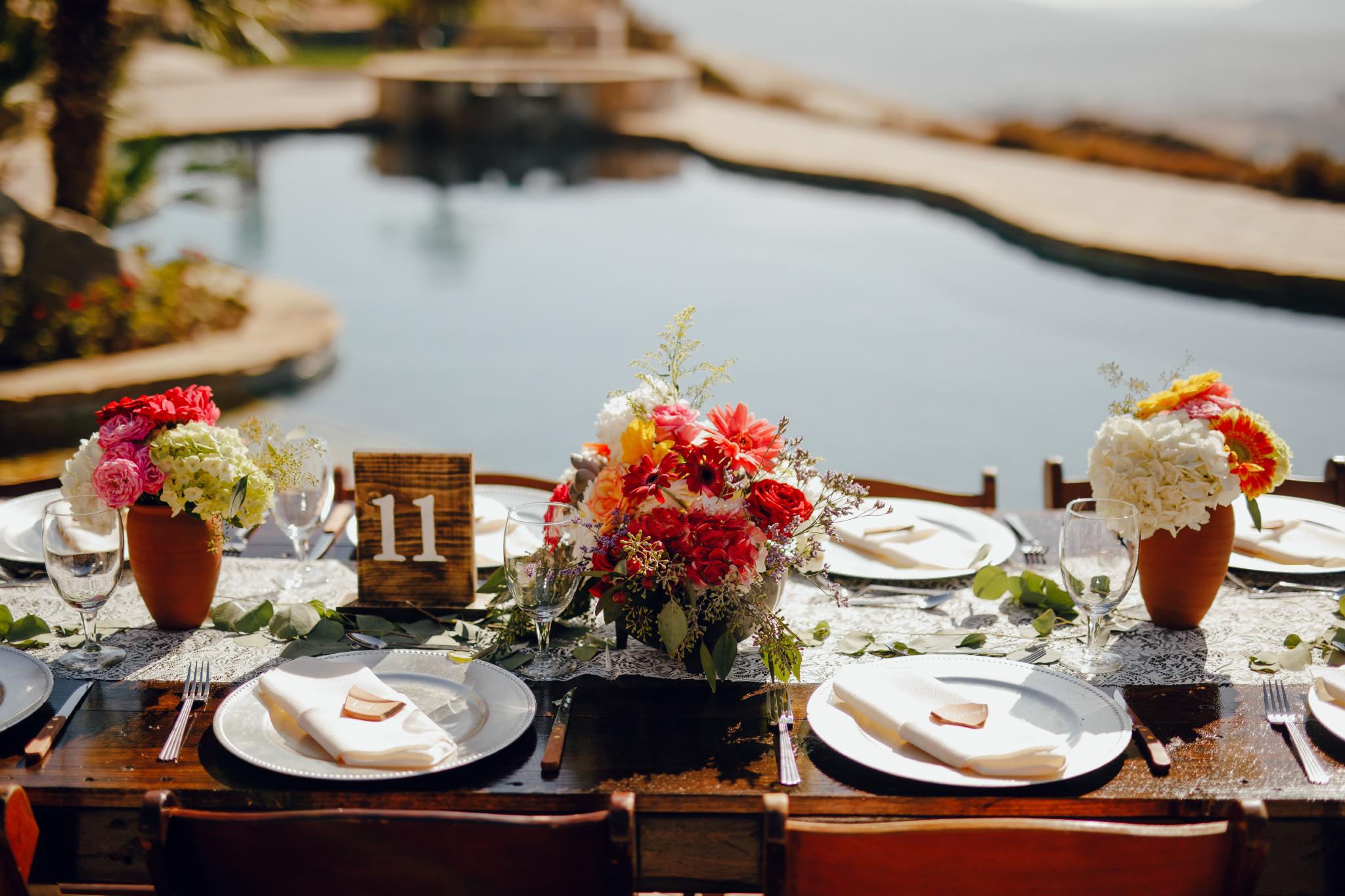 San Diego Wedding Photographer | table setting at a Montana Cielo wedding