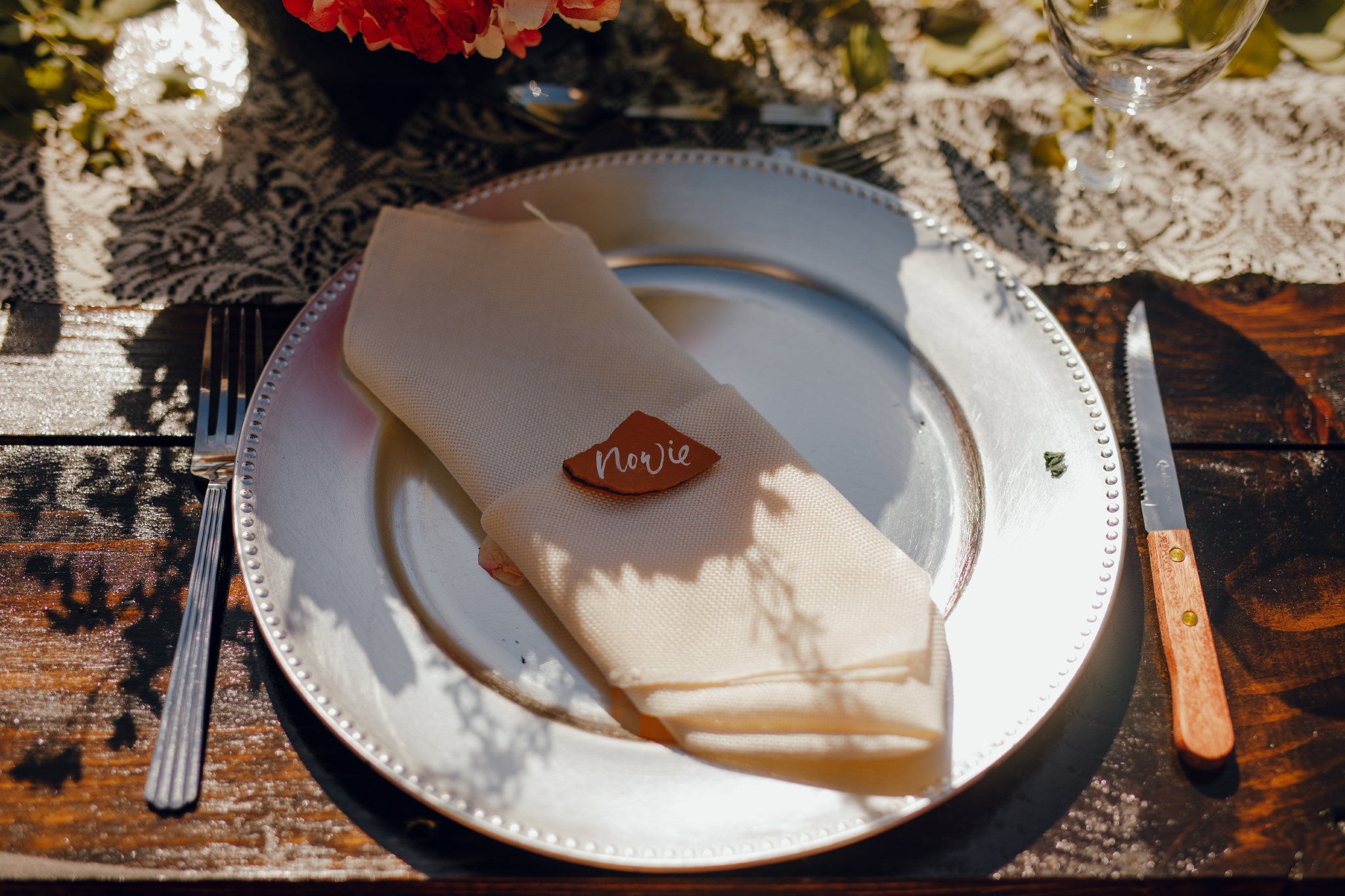 San Diego Wedding Photographer | personalized table setting