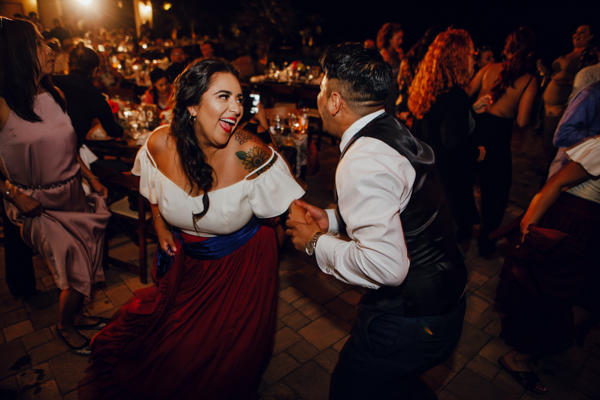 San Diego Wedding Photographer | bridesmaid dancing with her partner
