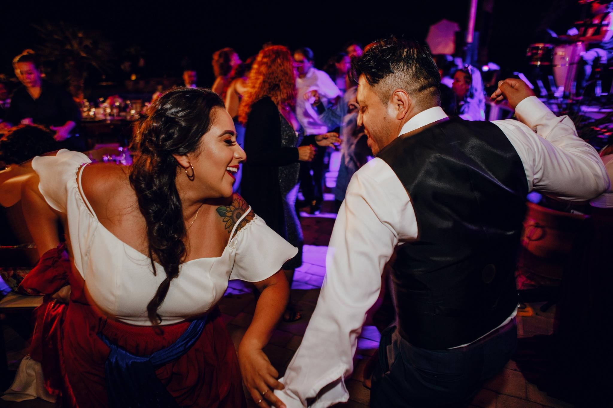 San Diego Wedding Photographer | party during wedding reception