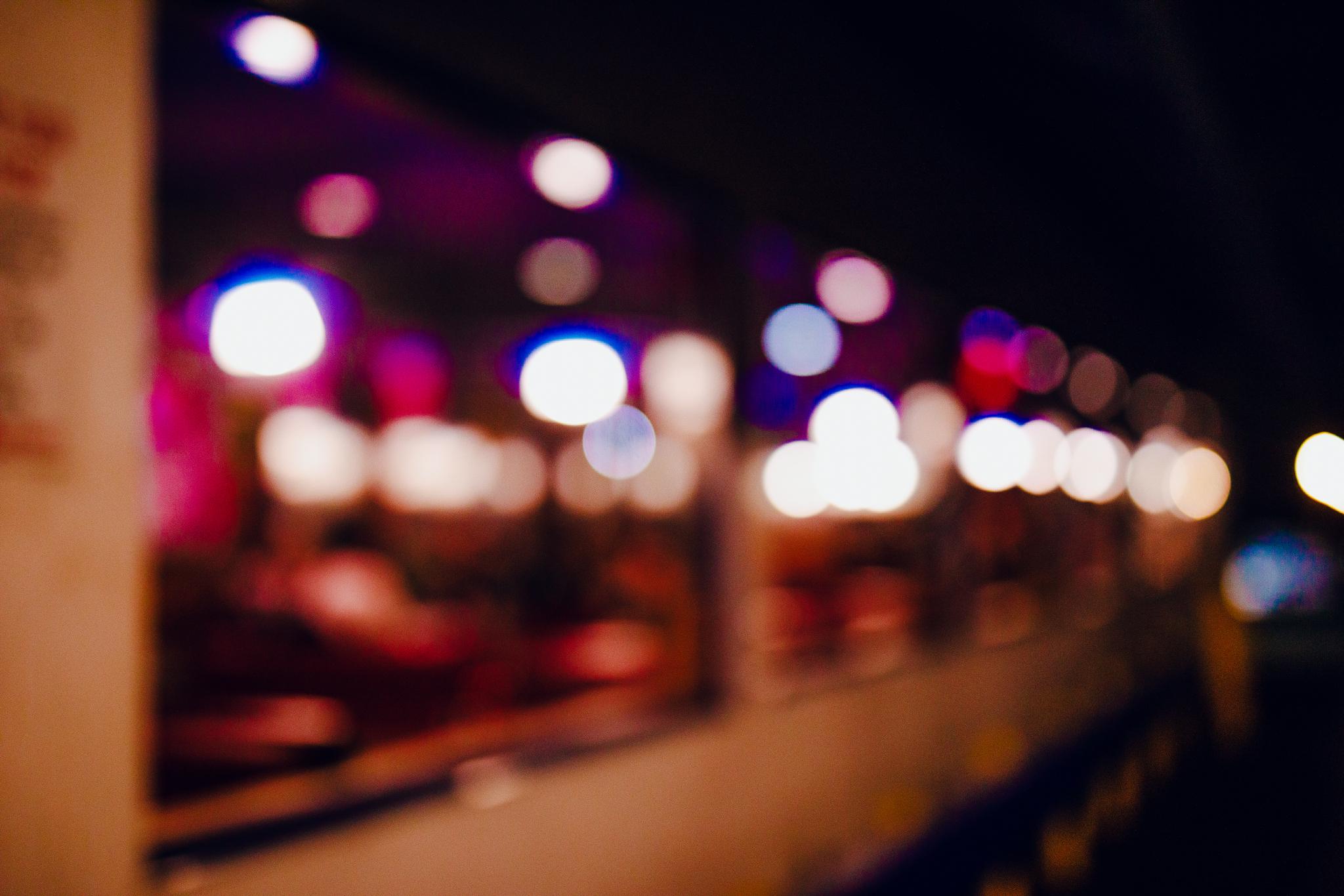 San Diego wedding photographer | bokeh neon lights