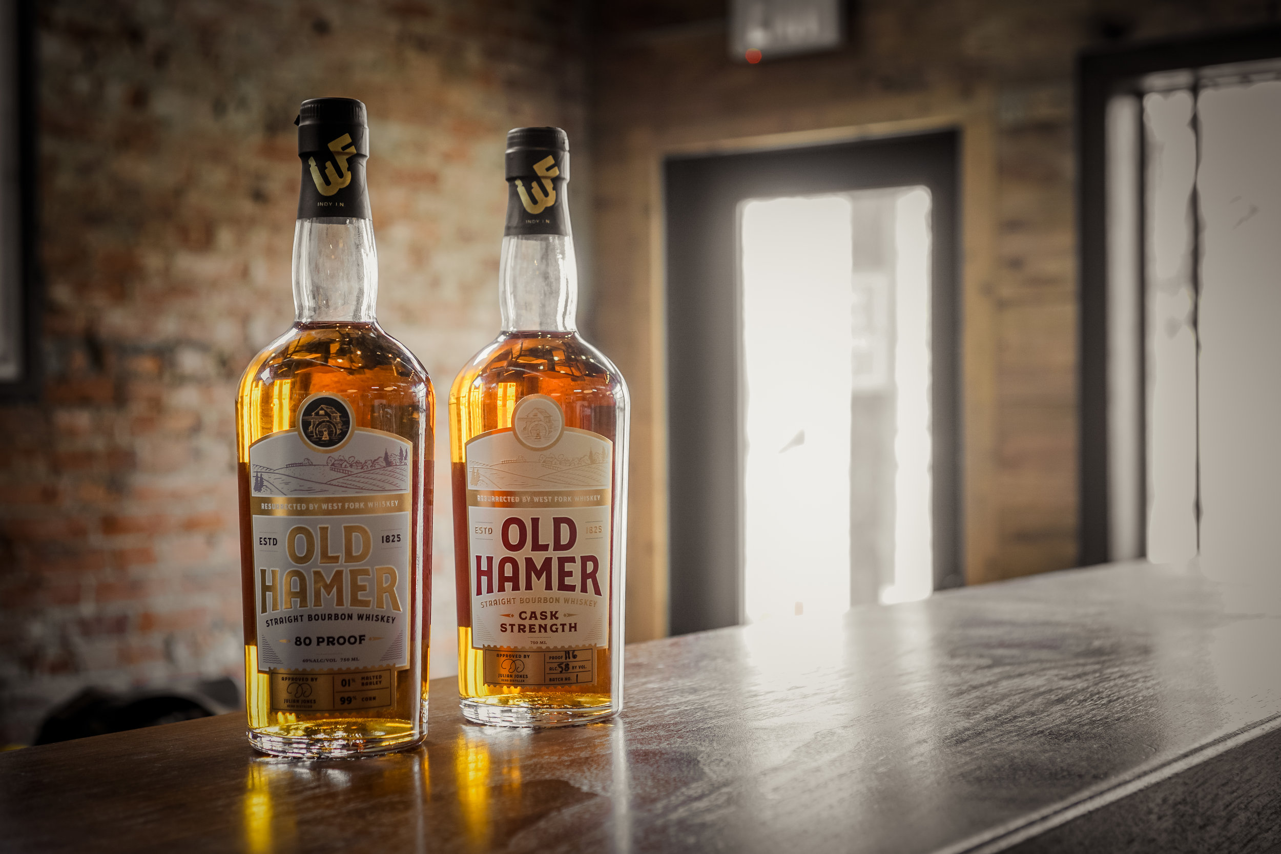 OLD HAMER STRAIGHT BOURBON WHISKEY