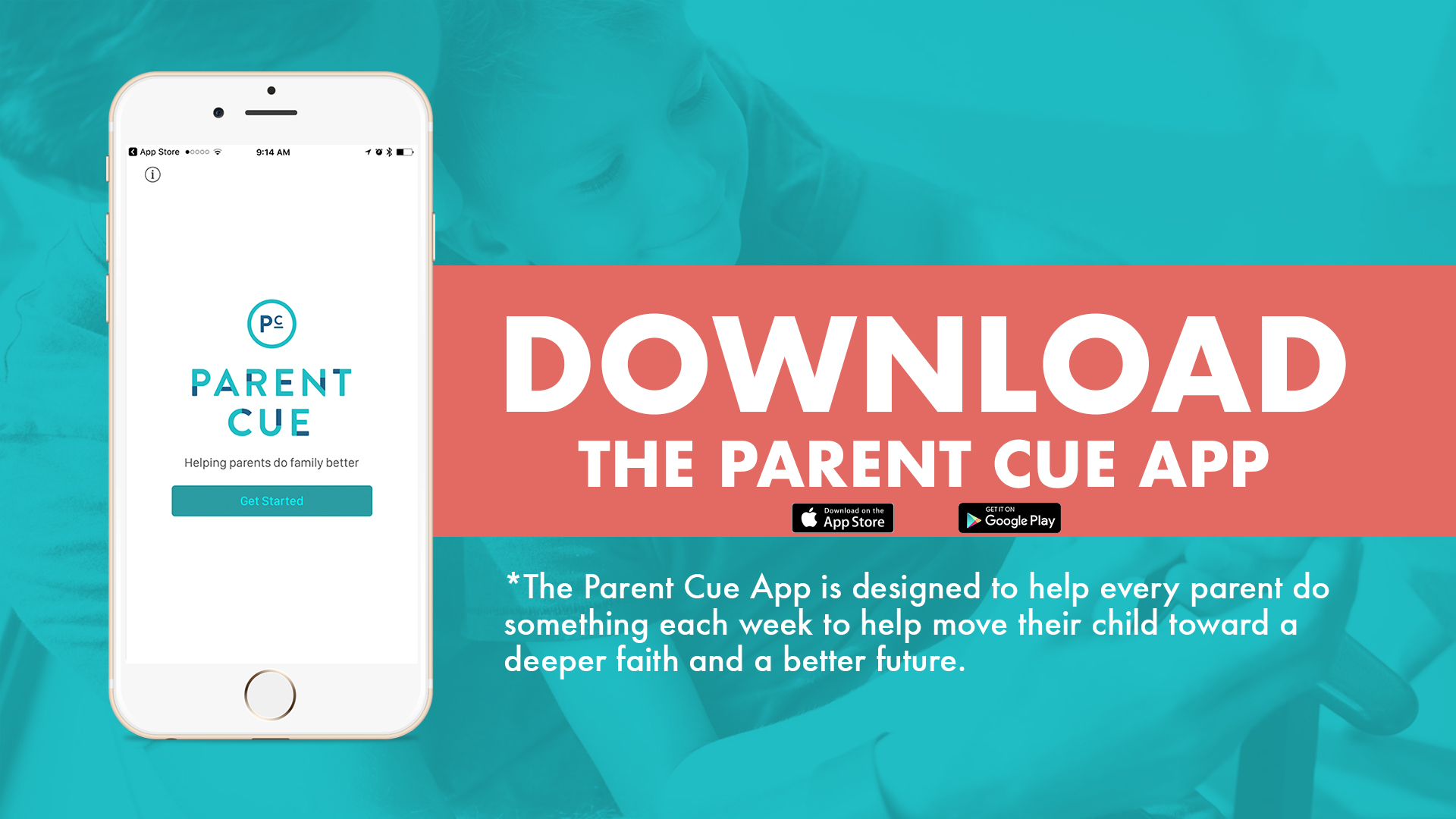 PARENT CUE APP - Get information about KidZone, specific resources for your child's age, a reminder to be intentional about your child's faith, and more!DOWNLOAD IT HERE TODAY!