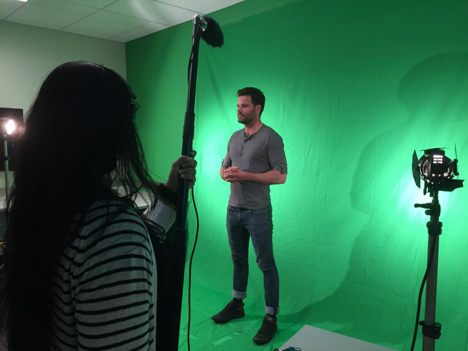 Green screen shoot of our actor who plays the virtual narrator