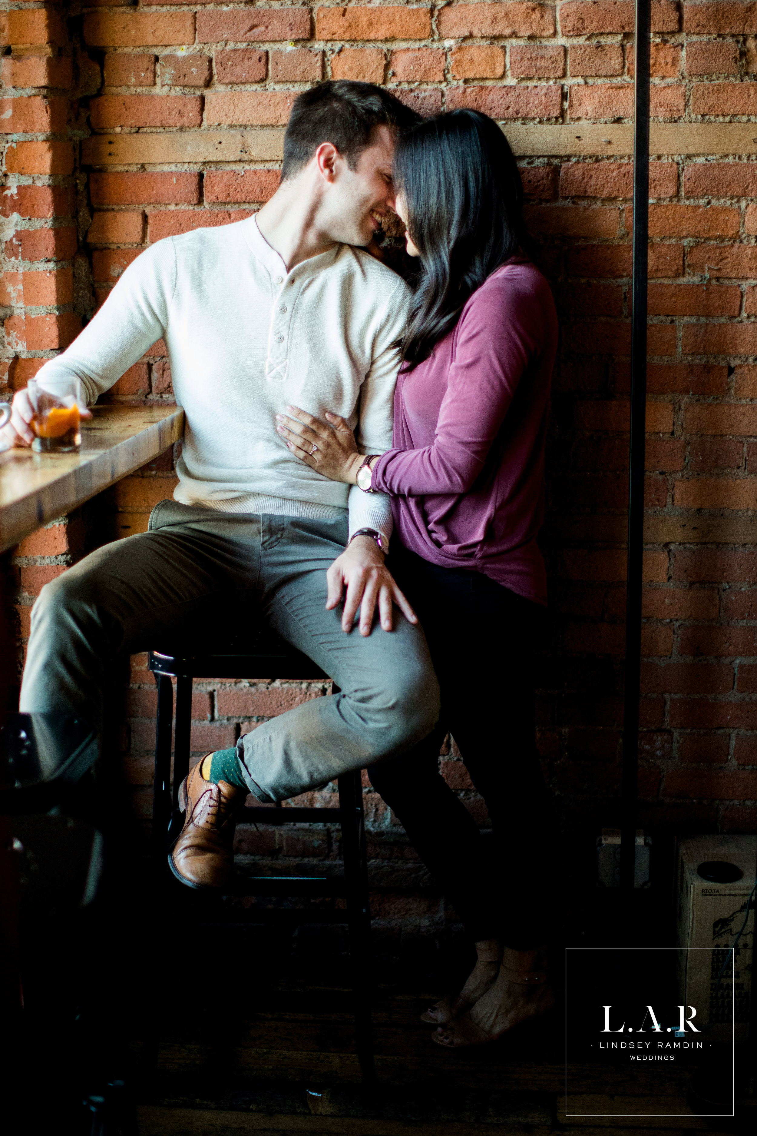 Detroit Engagement Photo | IGreat Lakes Coffee Roasting Co | L.A.R. Weddings