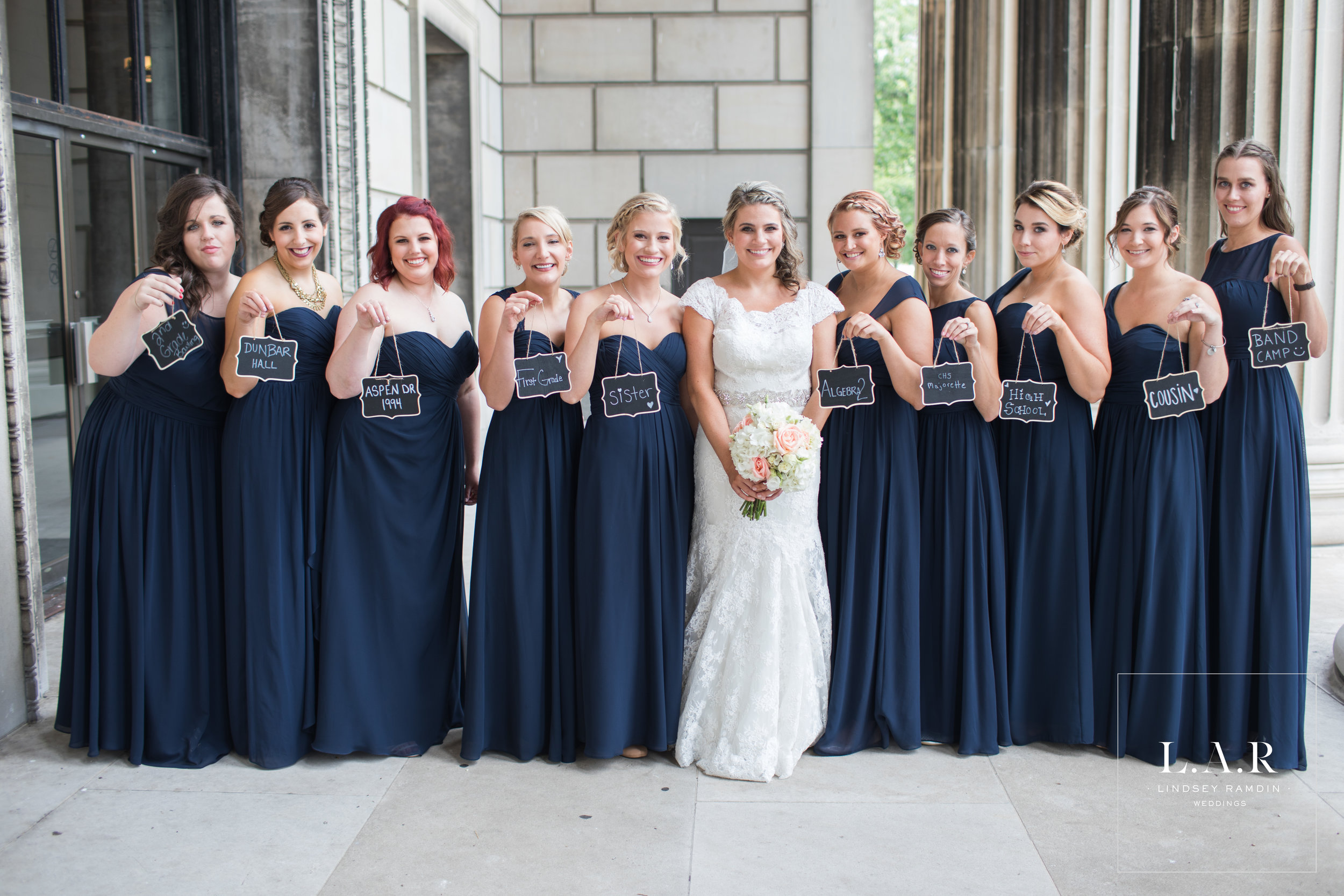 On the signs: How did you meet the bride?