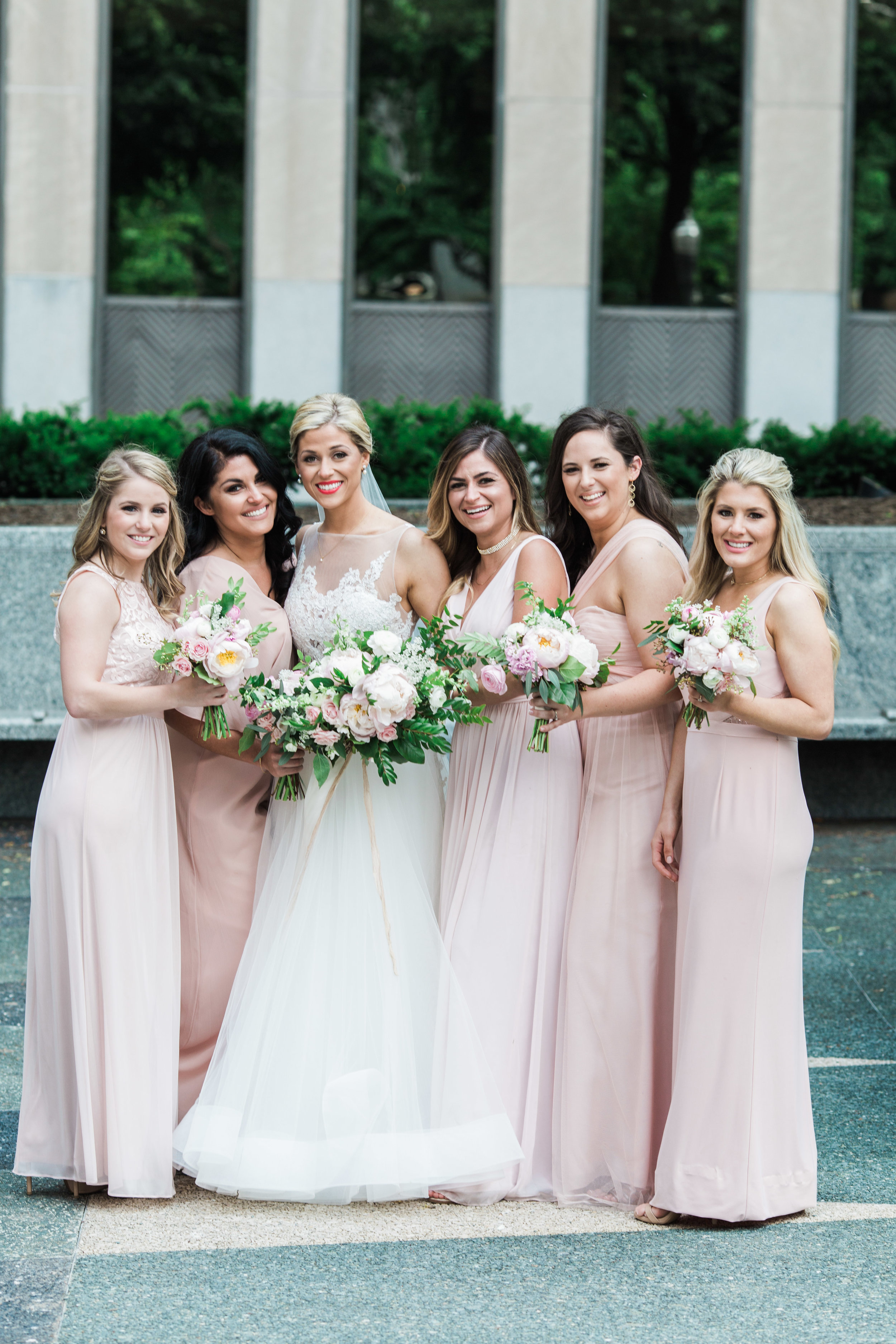 Gorgeous in their  Adrianna Papell  dresses!!