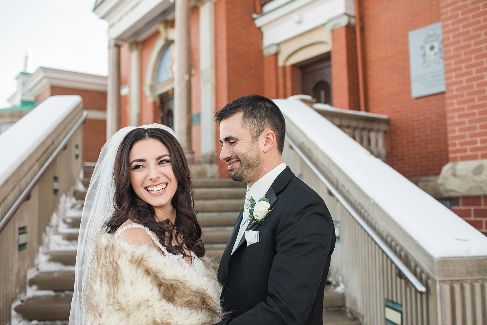 Youngstown Ohio Winter Wedding at Mt. Carmel Church