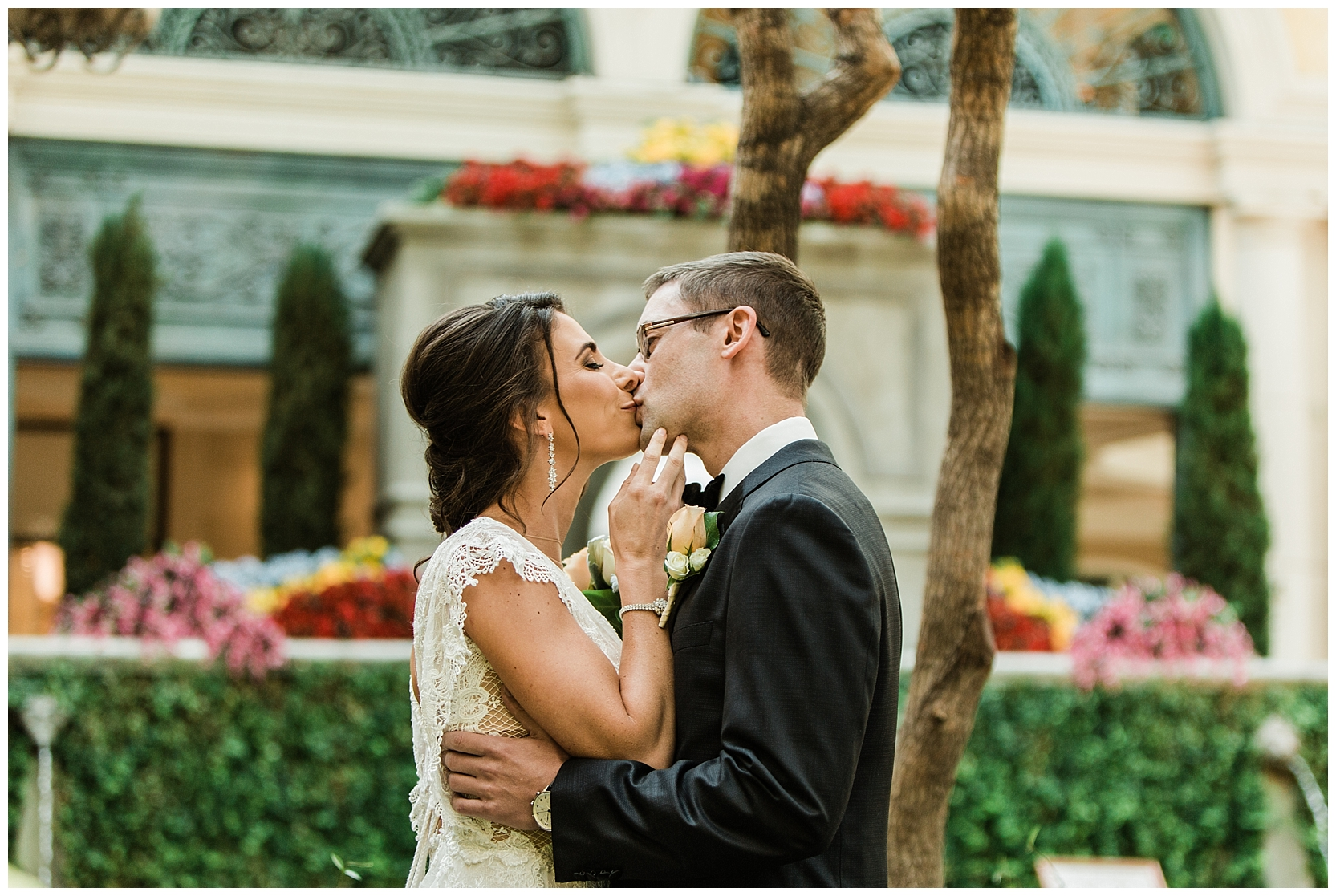 Las Vegas Elopement at the Bellagio photo by Lindsey Ramdin, L.A.R. Weddings