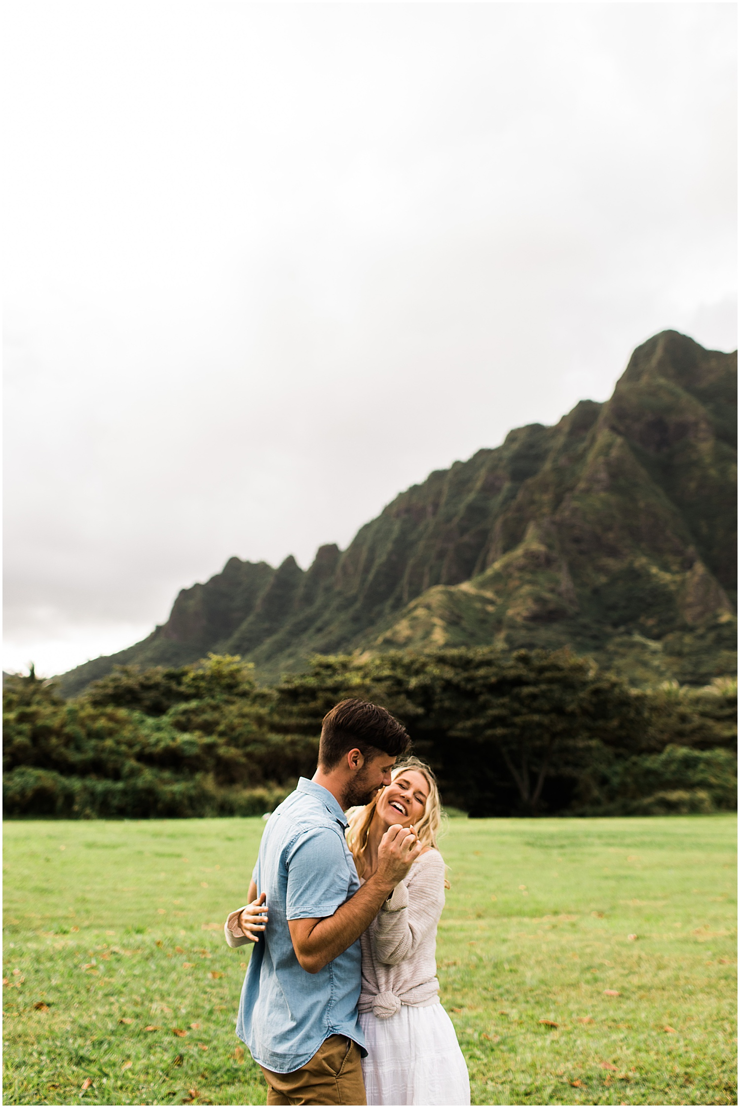 Kualoa Ranch Engagement Session in Oahu, Hawaii