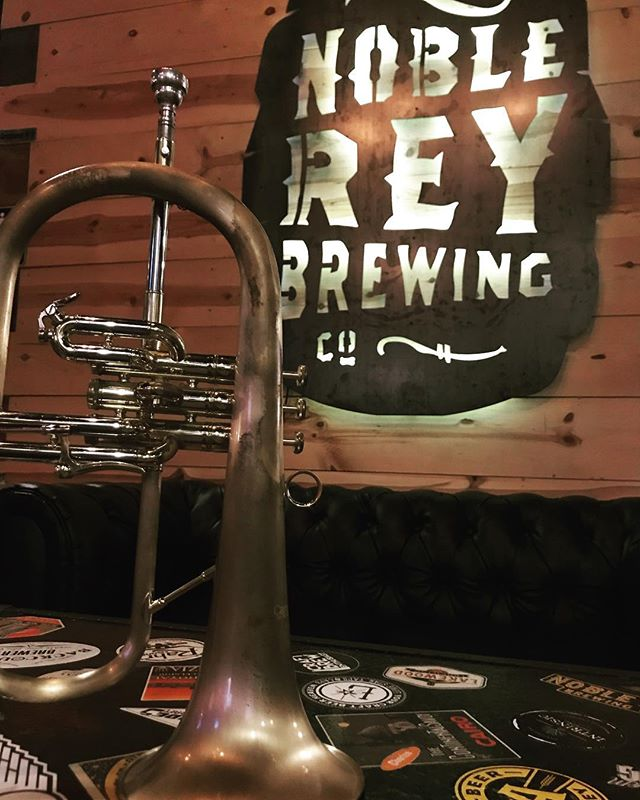 First Friday of Every Month! Beer and Jazz! #noblereybrewing #nmjazztet