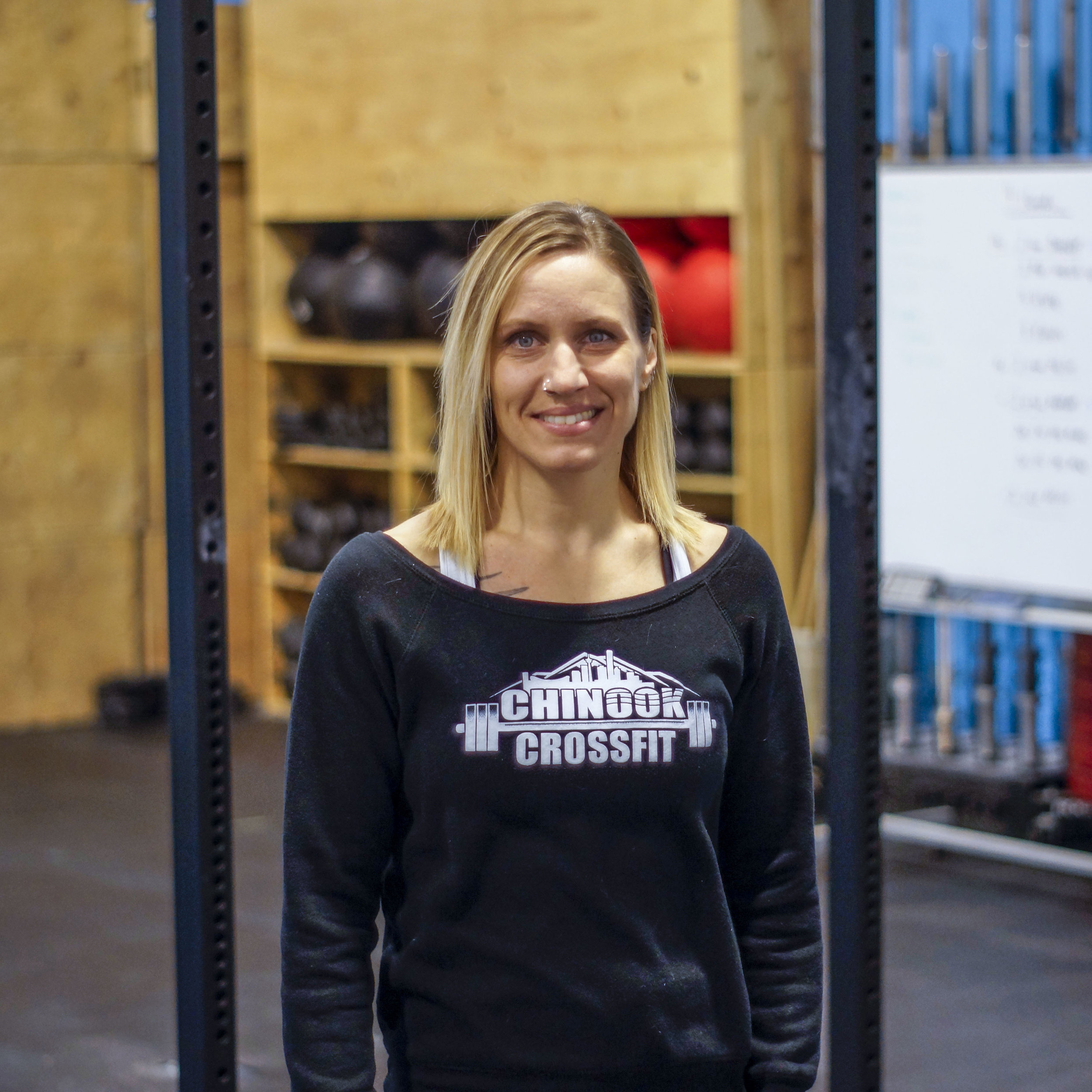 JOLAINE WEST - COACHI discovered Crossfit in 2012 and immediately fell in love with the culture and comradery. I was drawn into competing, first in a team environment, and then into individual competitions. Today, I enjoy using my experience as a competitor to help Chinook Crossfit athletes learn new skills and achieve their best. I am passionate about fitness and health and love helping others achieve their goals.CrossFit Level 1 Trainer