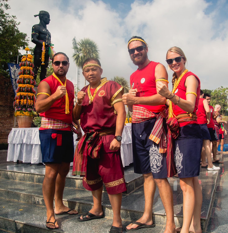 Nick, Chanchai, Andrew and Me (Ayutthaya, 2018)