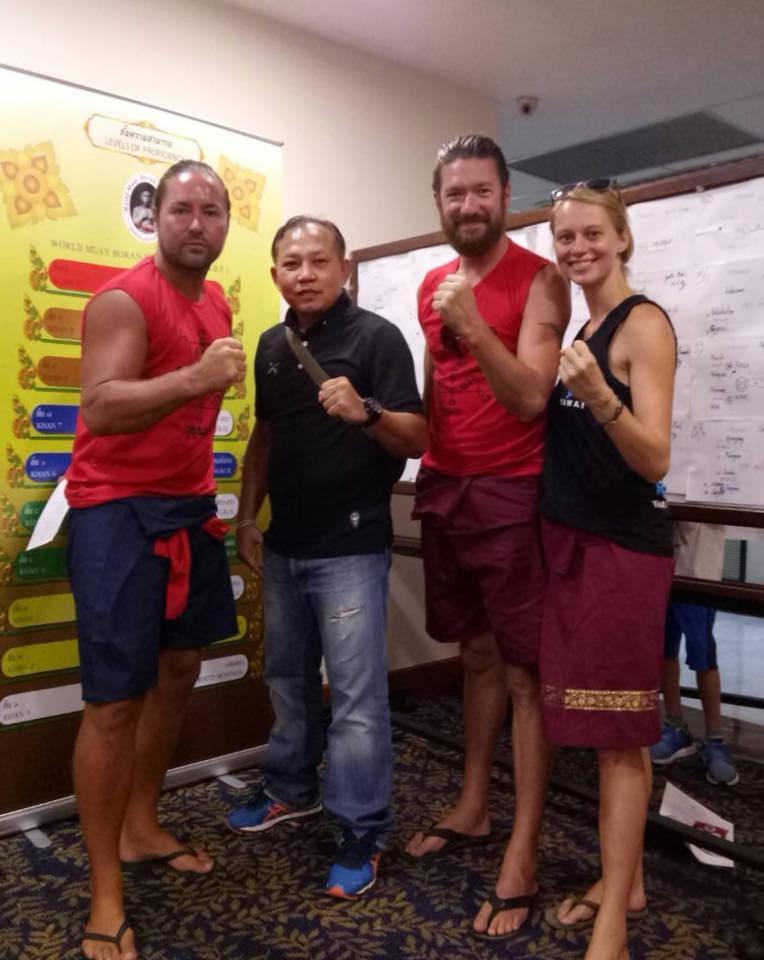 Nick, Kru Chanchai, Andrew & I