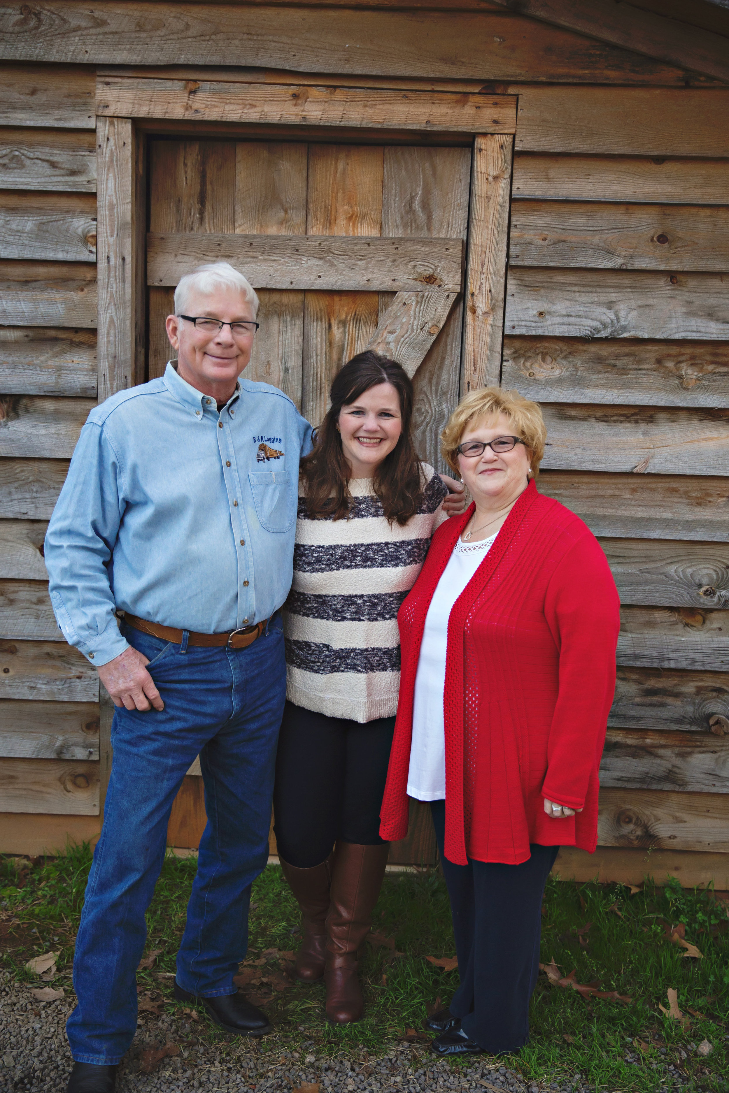 Deanna with her dad, Ray and her mom, Angela. Iron Station, North Carolina - 2015