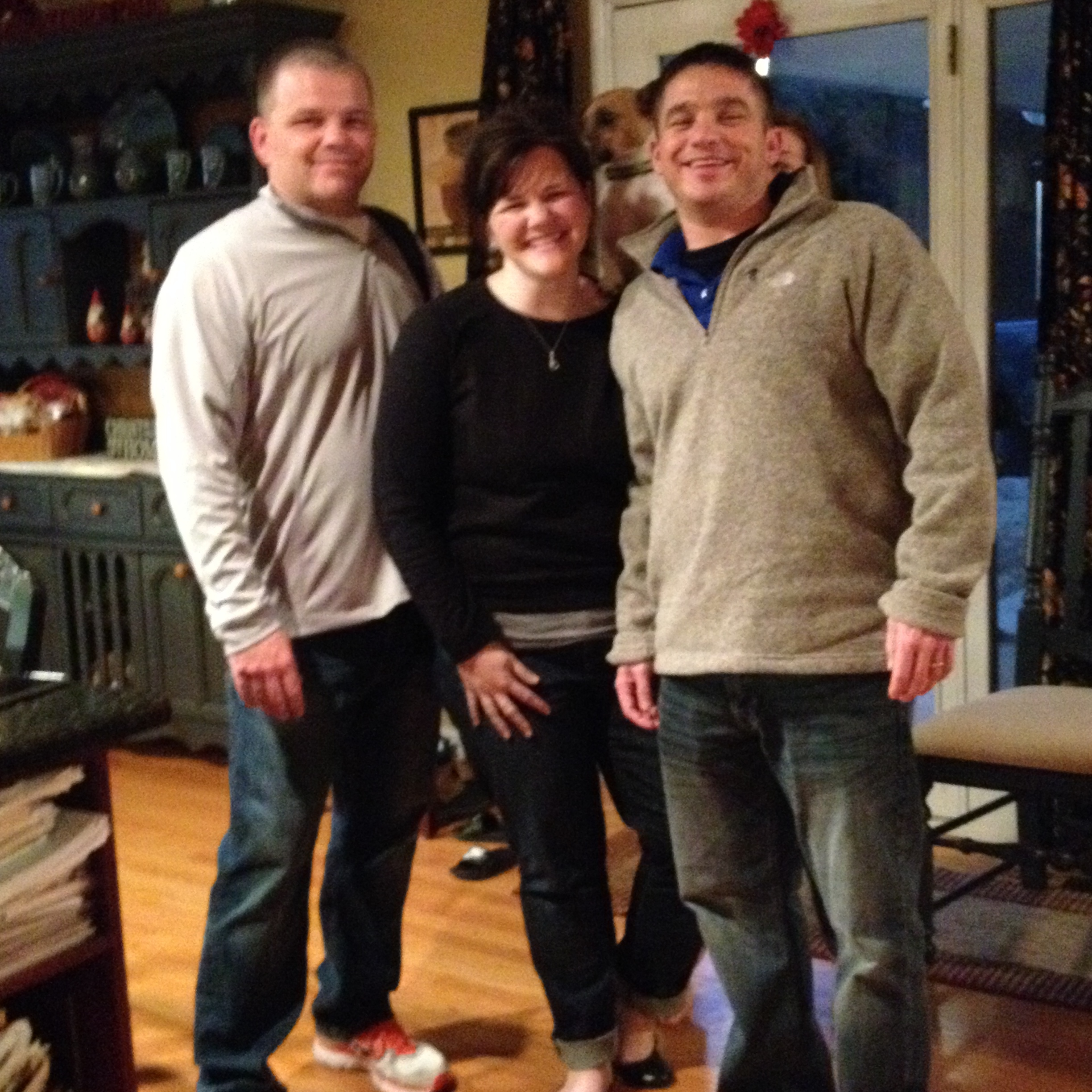 """Deanna and her brothers photo bombed by """"Izzy."""" Iron Station, NC - 2014"""
