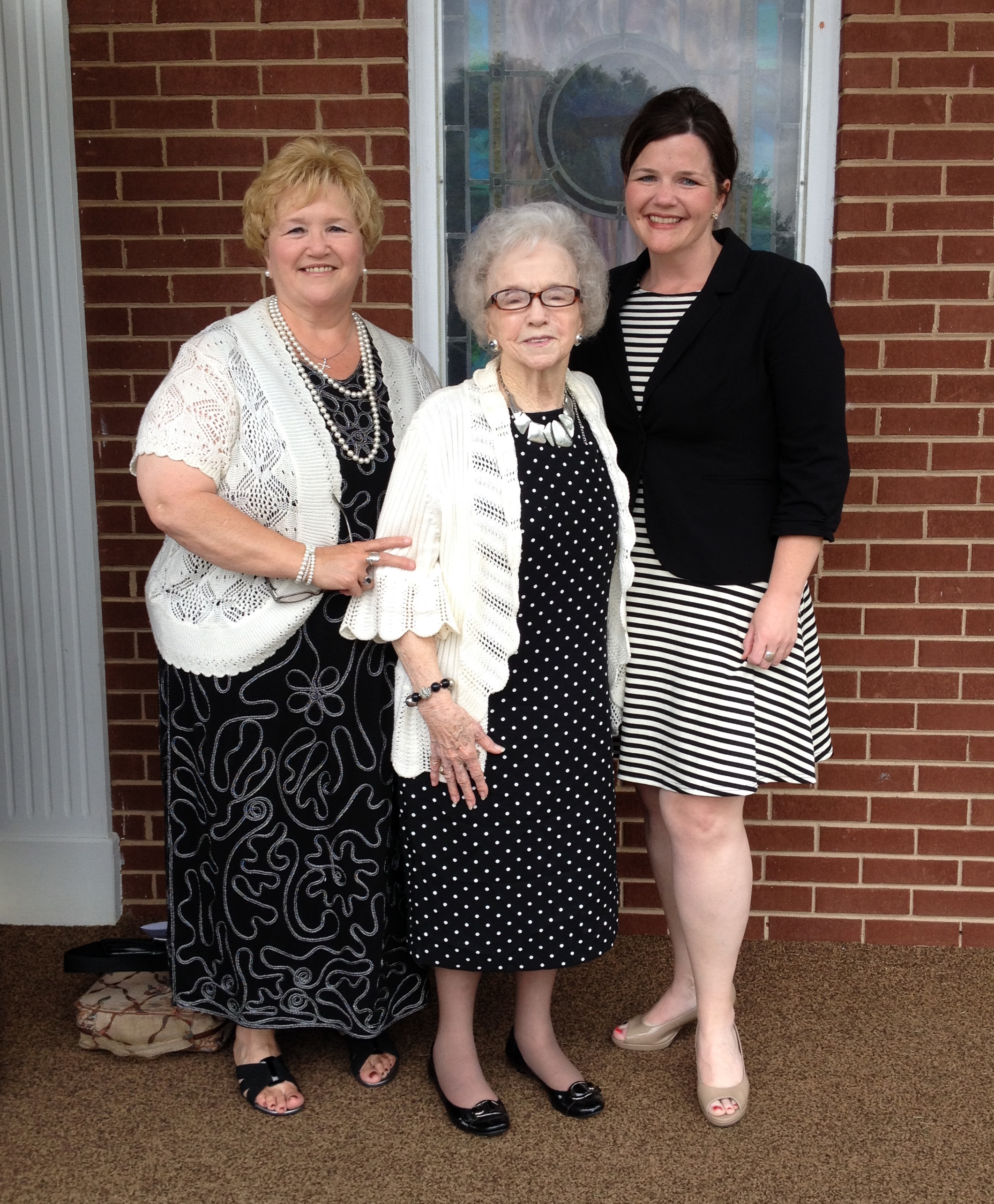 Deanna celebrating Mother's Day with her Mom and 86 year-old grandmother,Nanny Turner. Iron Station, NC - 2015
