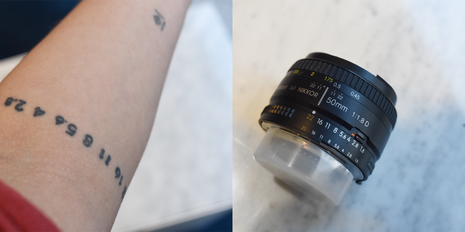 "The numbers near the end of your lens barrel by the mount is the ""aperture ring"""