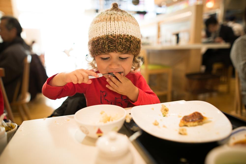The kid loves a gyoza