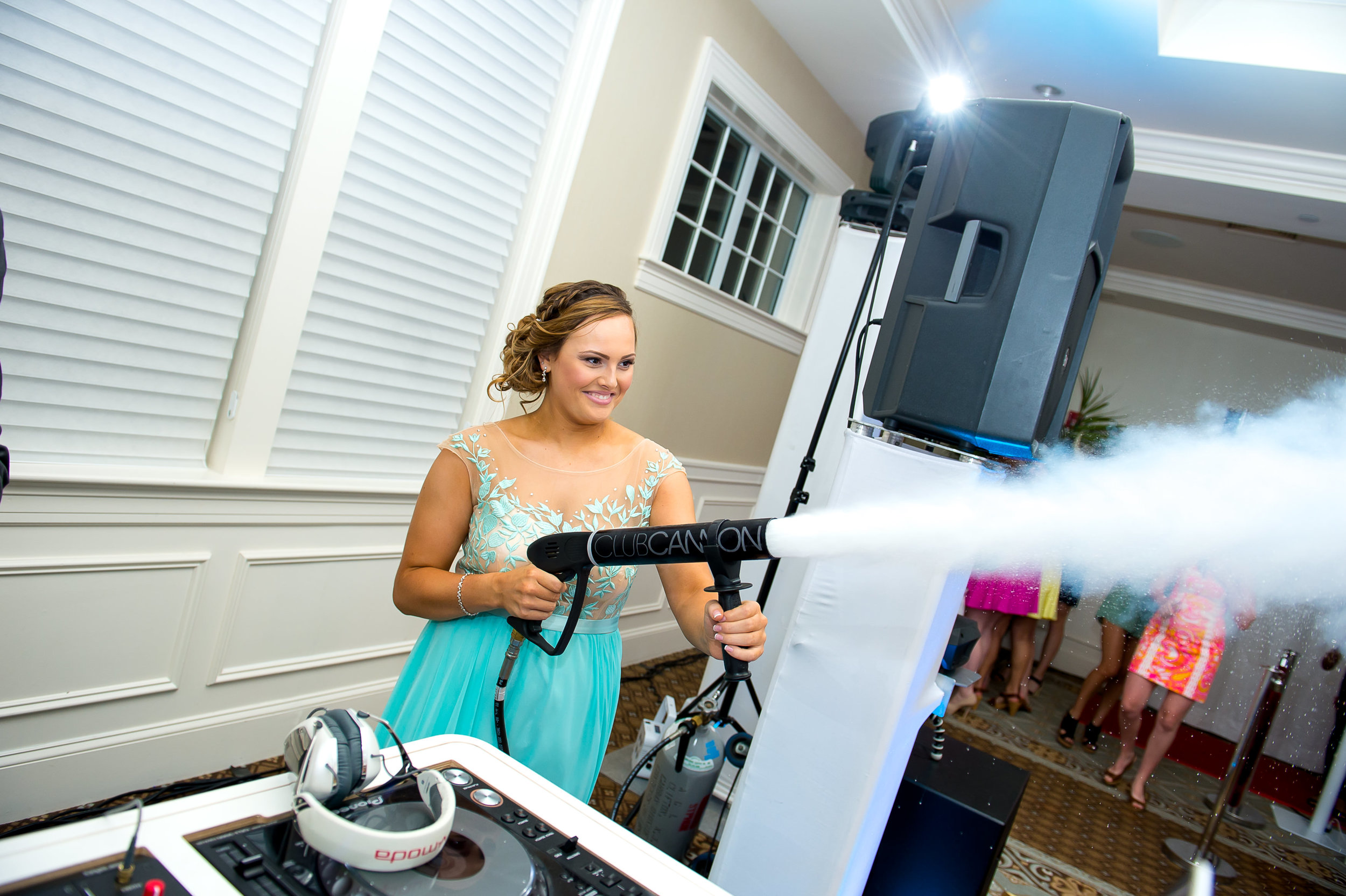 Co2 Cannons for Sweet 16s by Blanc Noir Event Group