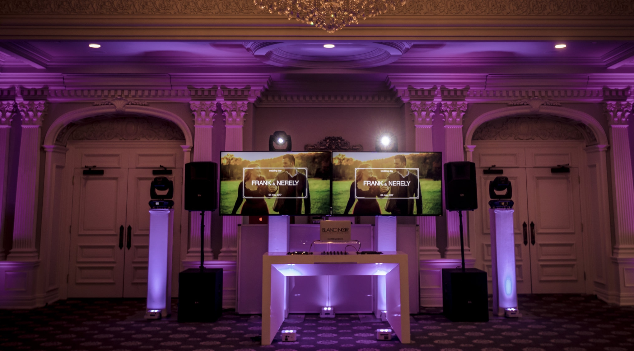 HD Multimedia Displays by Blanc Noir Event Group
