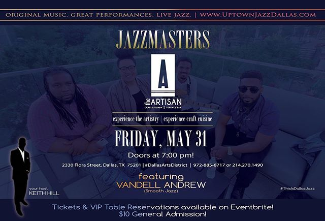 This Friday in Dallas! @uptownjazzfest . . . . . #vandellandrew #jazz #dallas #uptownjazzdallas