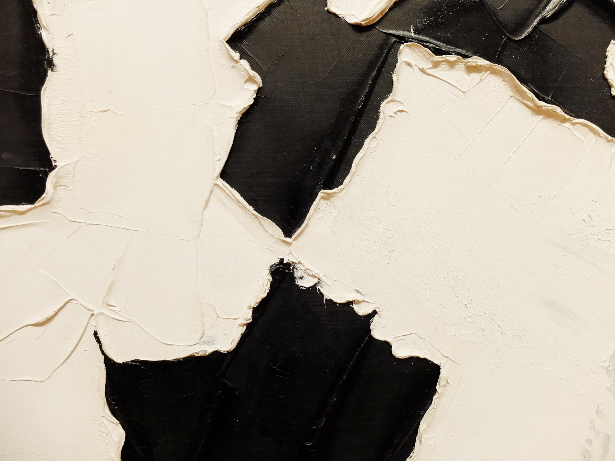 detail Paul-Émile Borduas, 3+4+1 , 1956, oil on canvas, 199.8 x 250 cm, National Gallery of Canada, Ottawa