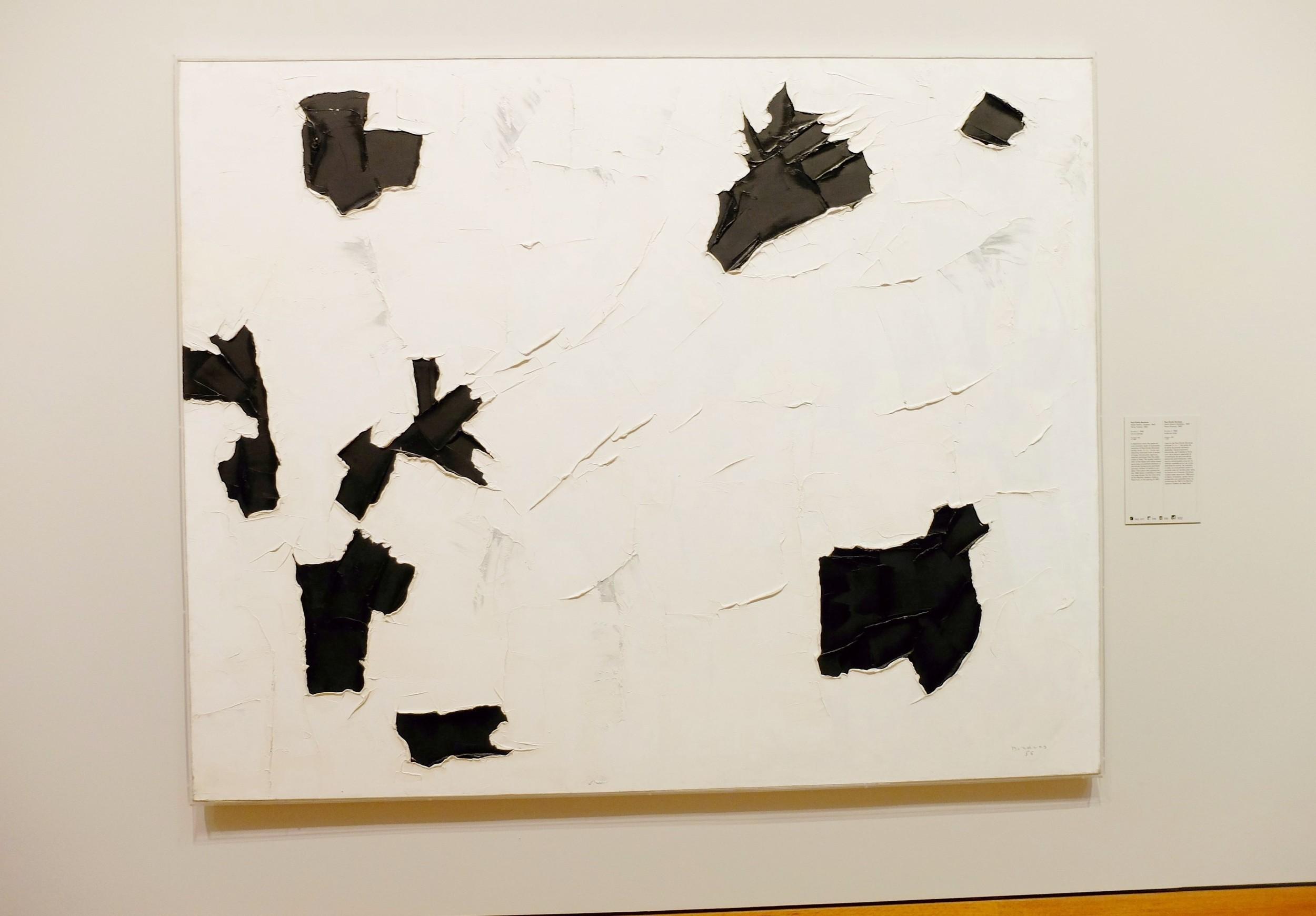 Paul-Émile Borduas, 3+4+1 , 1956, oil on canvas, 199.8 x 250 cm, National Gallery of Canada, Ottawa