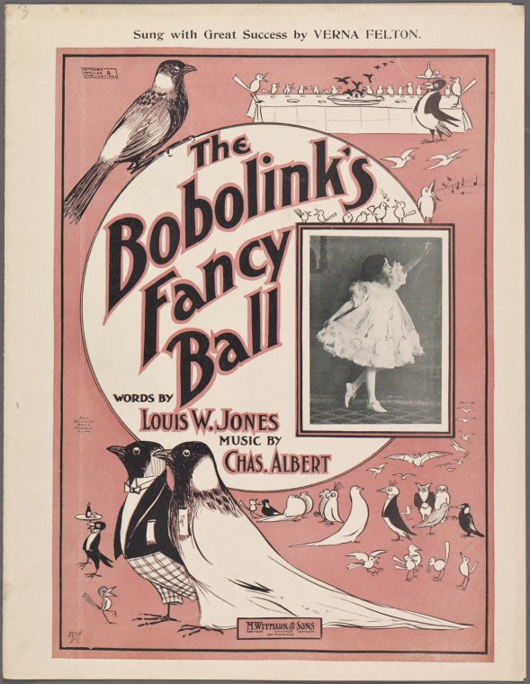 The earliest record of Verna Felton, a 1901 sheet music book for a musical comedy. She is 11 years old in the photo above!  from New York Public Library Digital Collections.