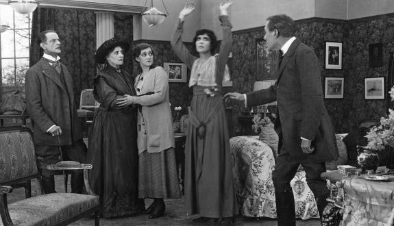 "Still from 1916 silent film ""The Second Mrs. Tanqueray"""