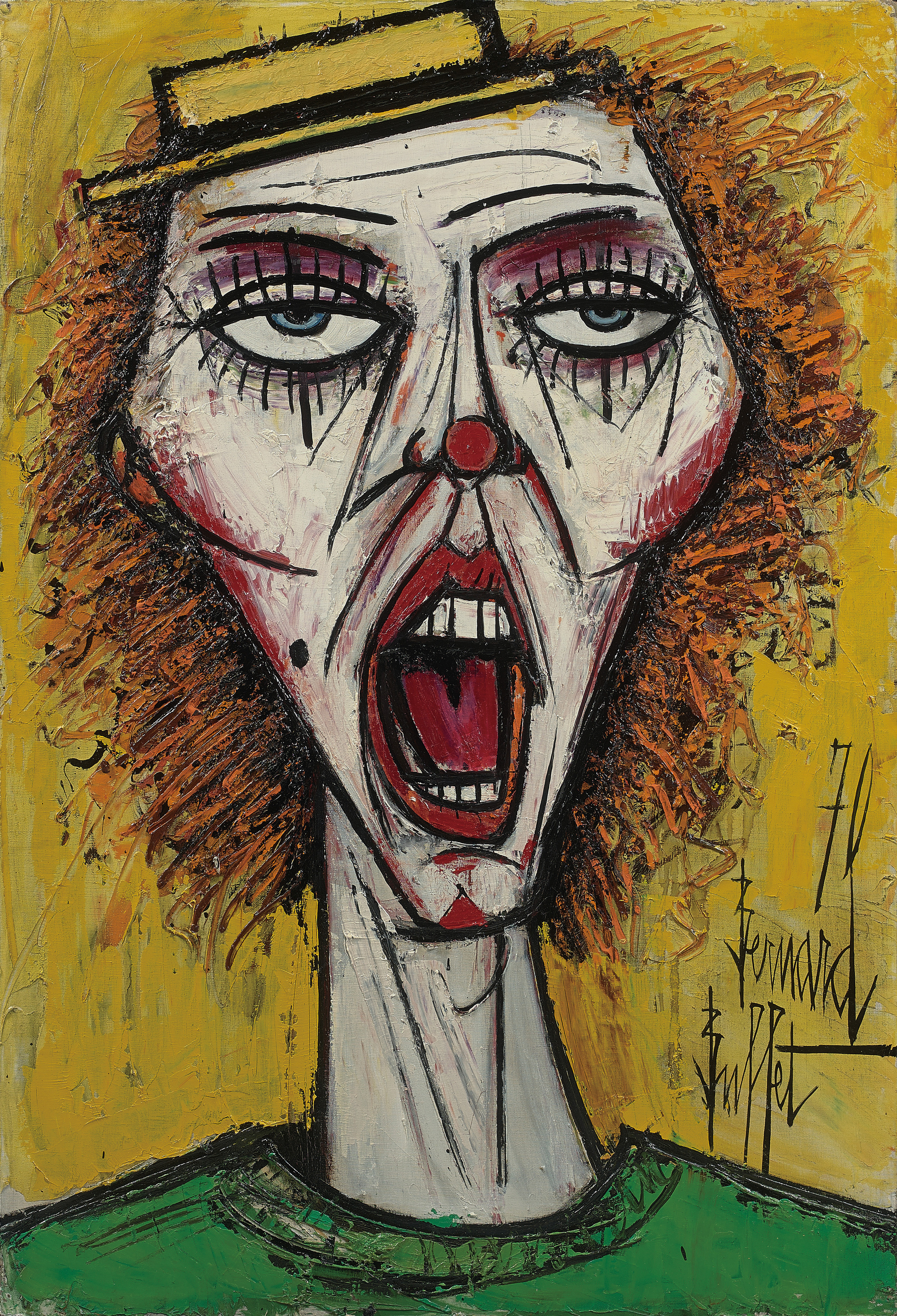 Bernard Buffet (1928–1999); Le Cri (1970); Oil on canvas; signed and dated lower right