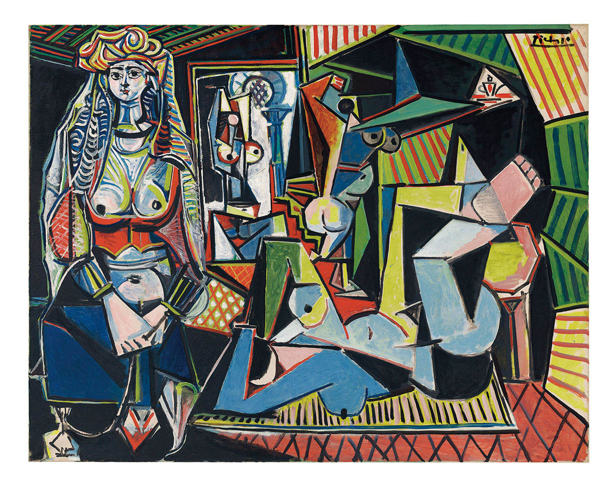 Les Femmes d'Alger  (1955) ,  Picasso   Sold for US$161 million in May, 2015 at Christie's, which beat the previous record-holder, a Francis Bacon triptych, by US$40 million